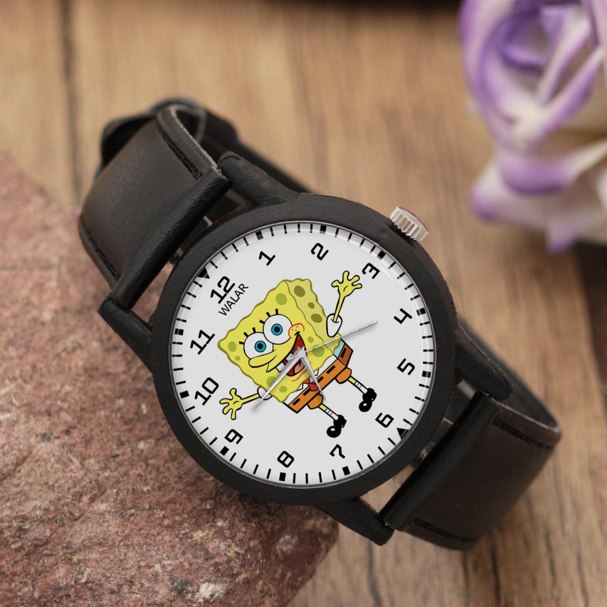 ساعت مچی عقربه ای والار طرح باب اسفنجی کد LF2496