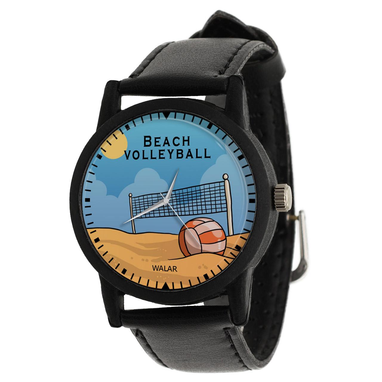 کد تخفیف                                      ساعت مچی عقربه ای والار طرح والیبال ساحلی کد LF2498