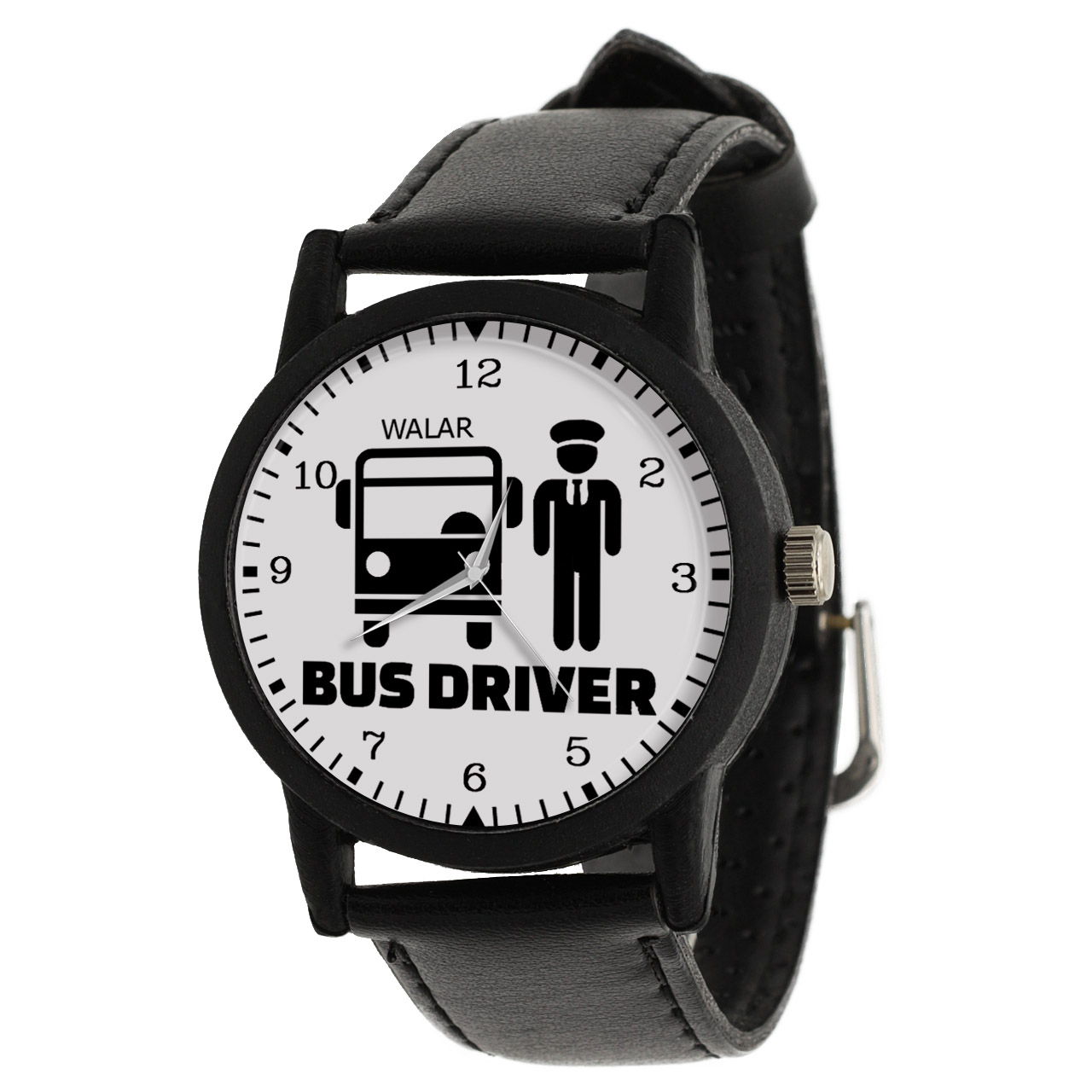 کد تخفیف                                      ساعت مچی عقربه ای مردانه والار طرح راننده اتوبوس کد LF2503
