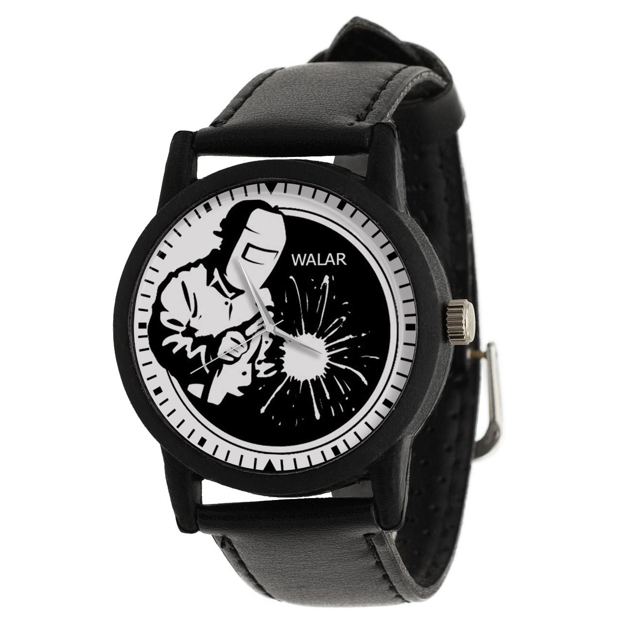 کد تخفیف                                      ساعت مچی عقربه ای مردانه والار طرح جوشکار کد LF2508