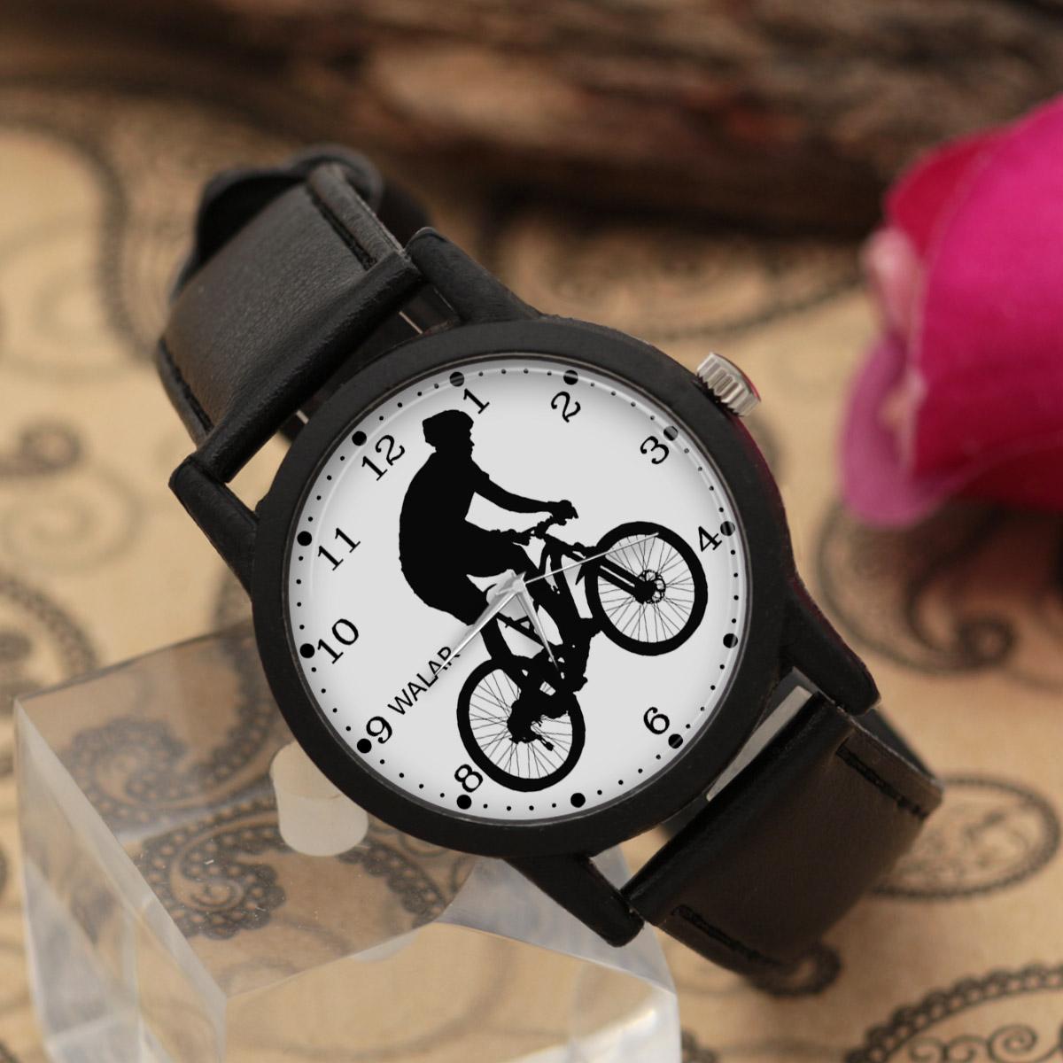 کد تخفیف                                      ساعت مچی عقربه ای مردانه والار طرح دوچرخه سواری کد LF2510