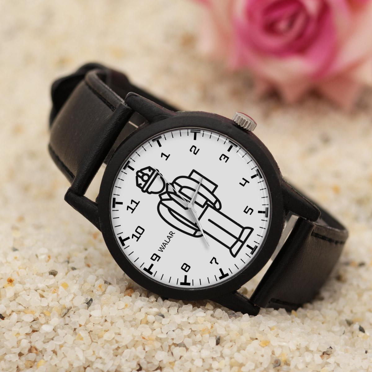 کد تخفیف                                      ساعت مچی عقربه ای مردانه والار طرح مدیر تولید کد LF2512