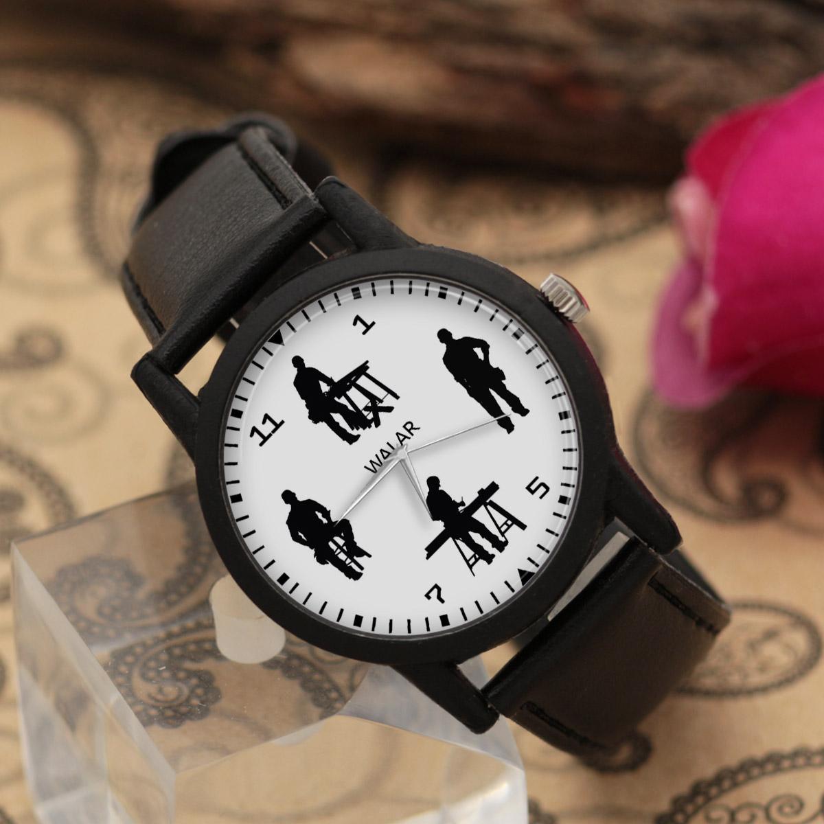 کد تخفیف                                      ساعت مچی عقربه ای مردانه والار طرح نجار کد LF2514