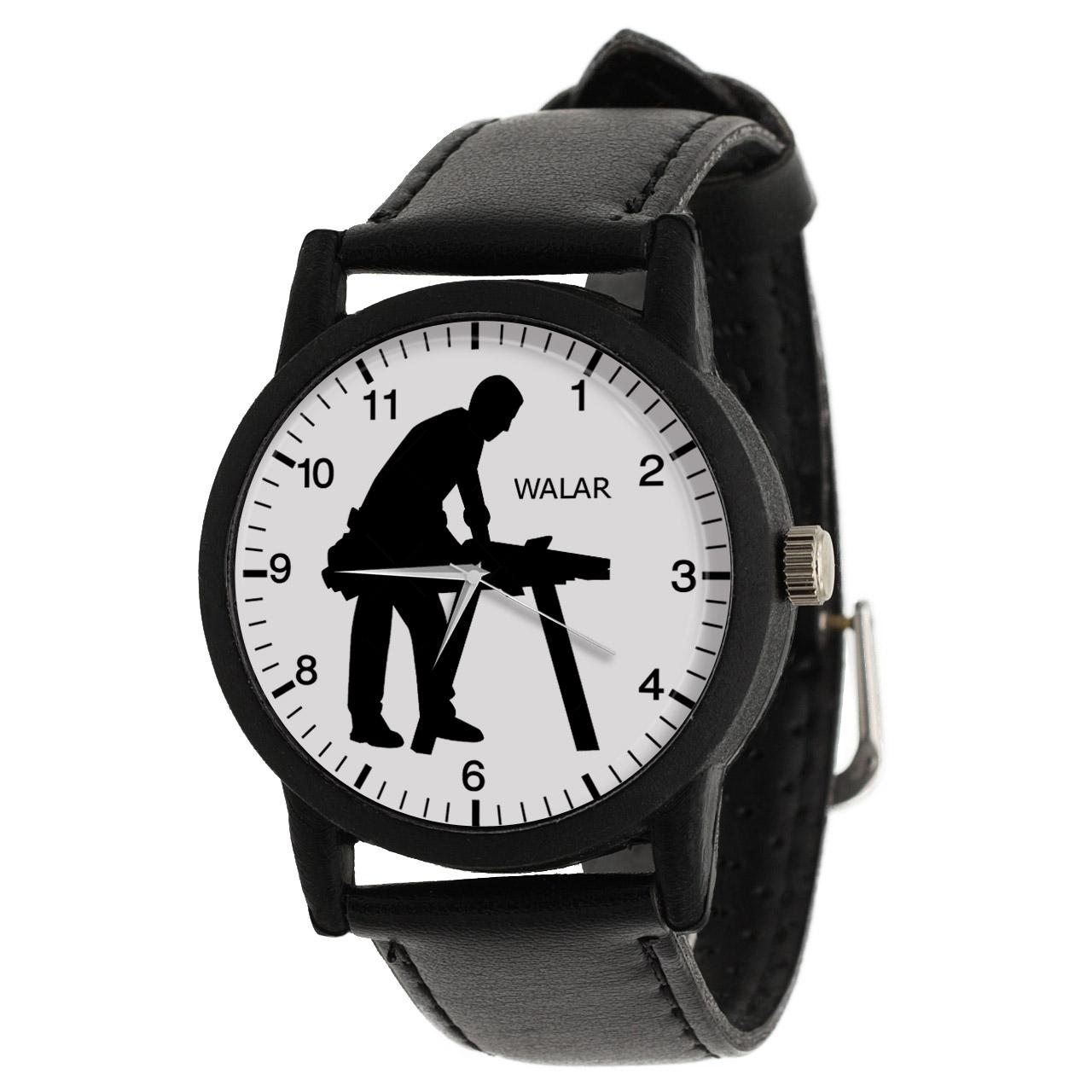 کد تخفیف                                      ساعت مچی عقربه ای مردانه والار طرح نجار کد LF2515