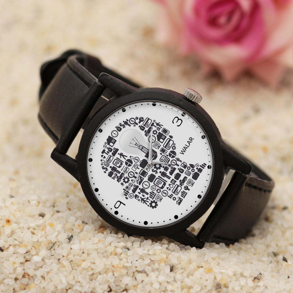 کد تخفیف                                      ساعت مچی عقربه ای والار طرح مهندسی کد LF2523