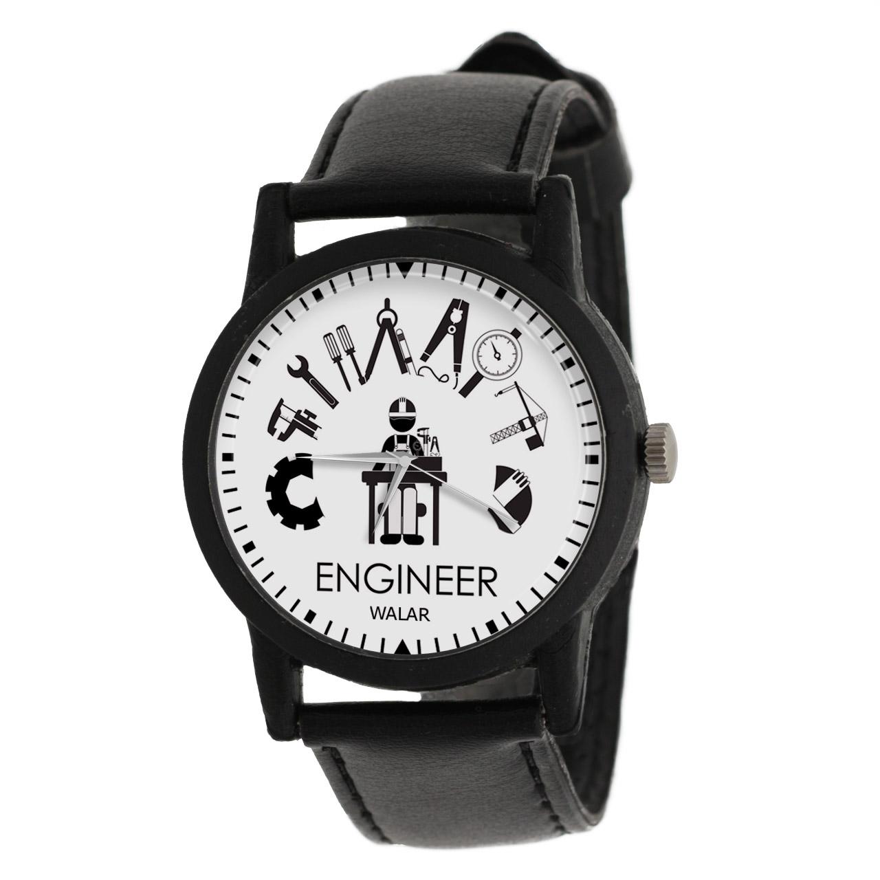 کد تخفیف                                      ساعت مچی عقربه ای والار طرح مهندس کد LF2524
