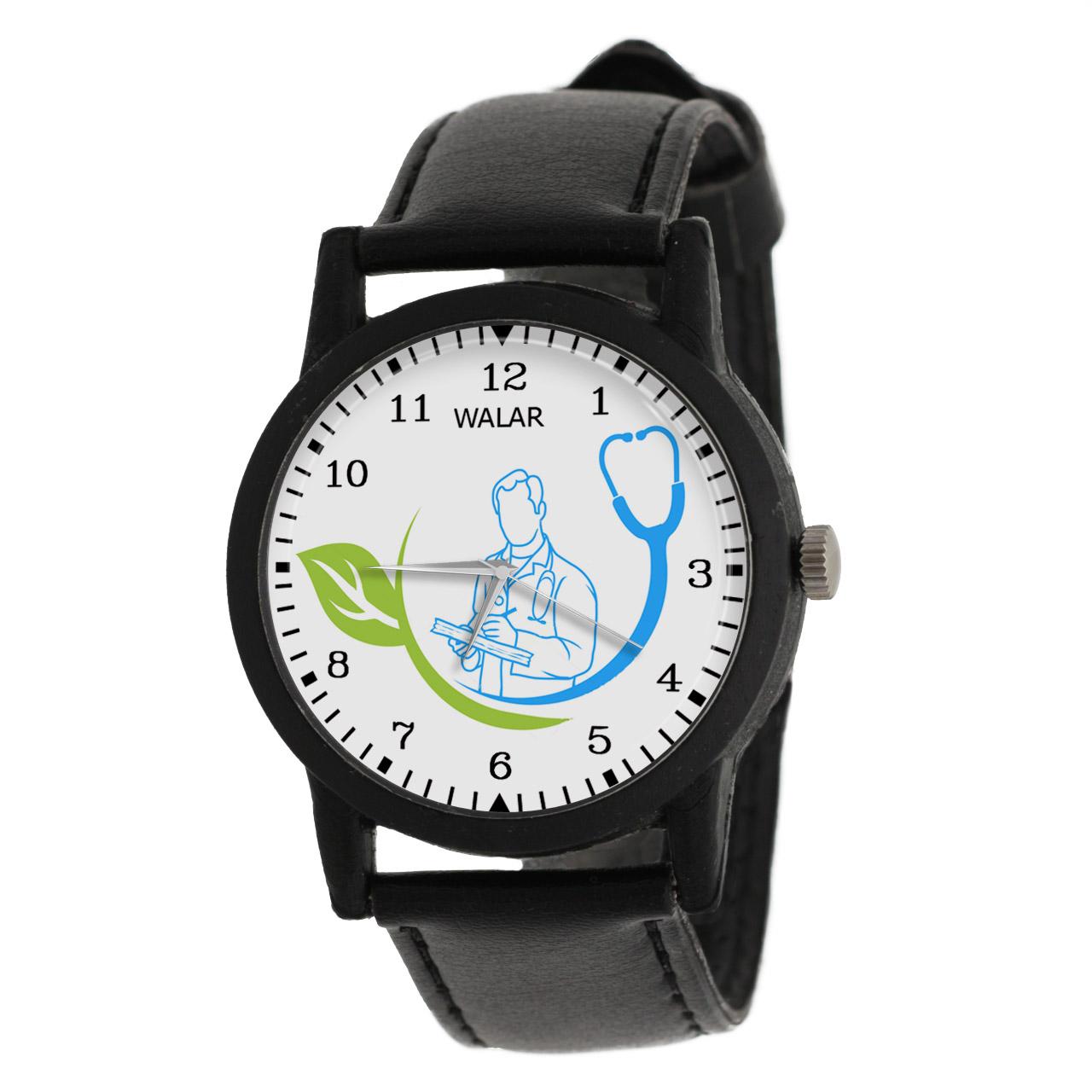 کد تخفیف                                      ساعت مچی عقربه ای مردانه والار طرح پزشک کد LF2528