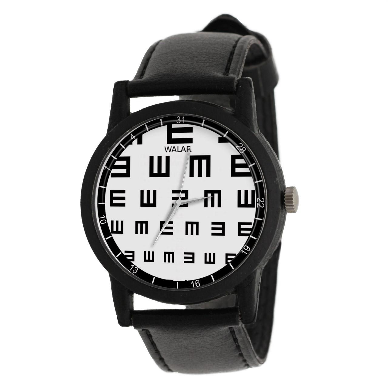 کد تخفیف                                      ساعت مچی عقربه ای والار طرح چشم پزشک کد LF2535