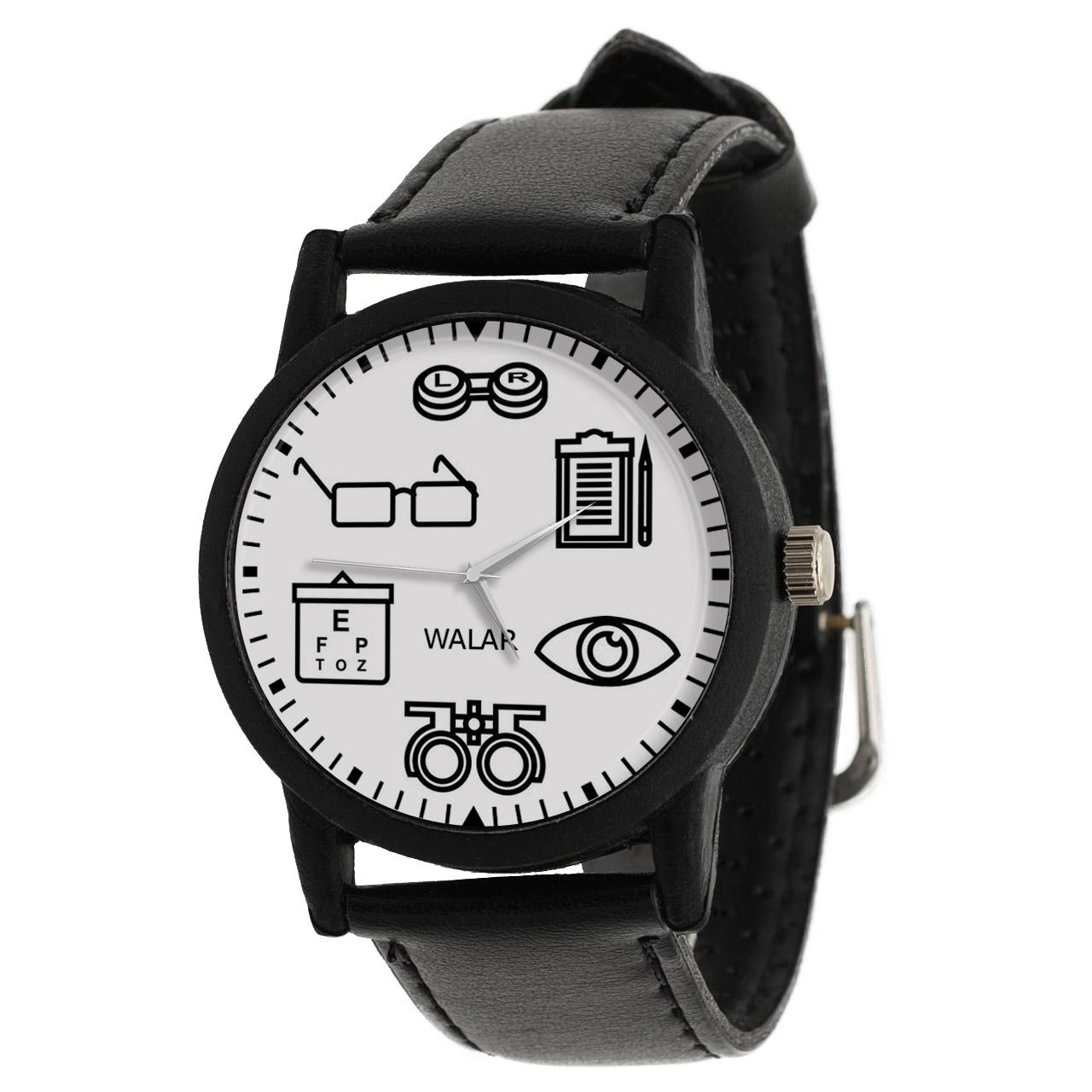 کد تخفیف                                      ساعت مچی عقربه ای والار طرح چشم پزشک کد LF2536