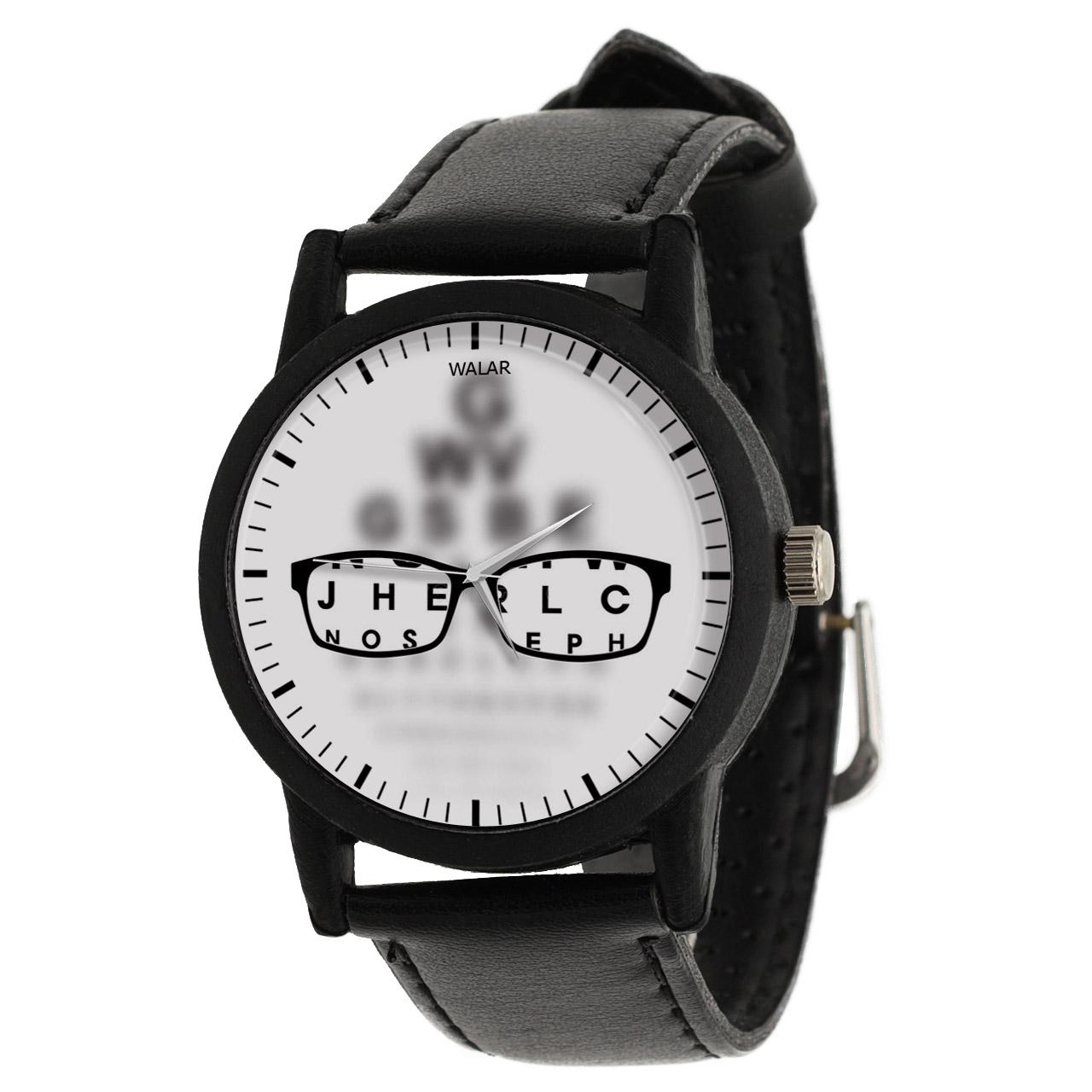 کد تخفیف                                      ساعت مچی عقربه ای والار طرح چشم پزشک کد LF2537
