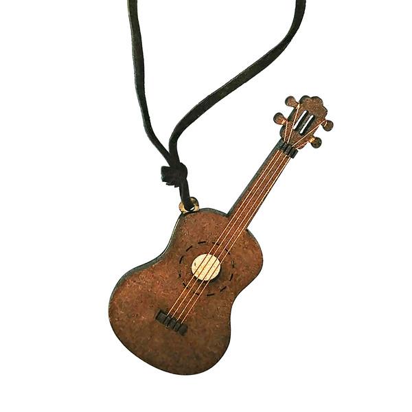 گردنبند زنانه طرح گیتار کلاسیک کد Gn150