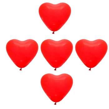 بادکنک طرح قلب مجموعه 5 عددی