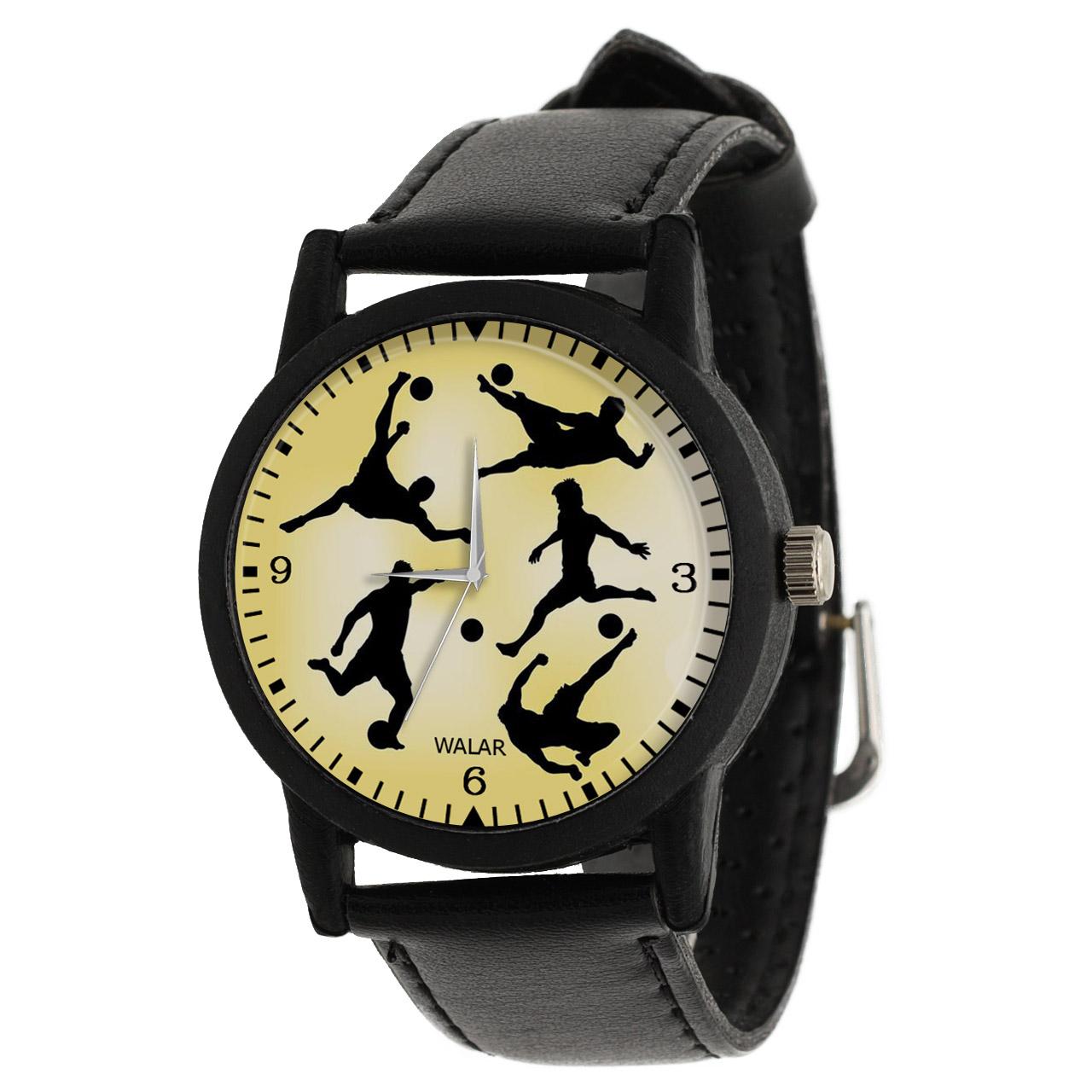 کد تخفیف                                      ساعت مچی عقربه ای مردانه والار طرح فوتبالیست کد LF2554