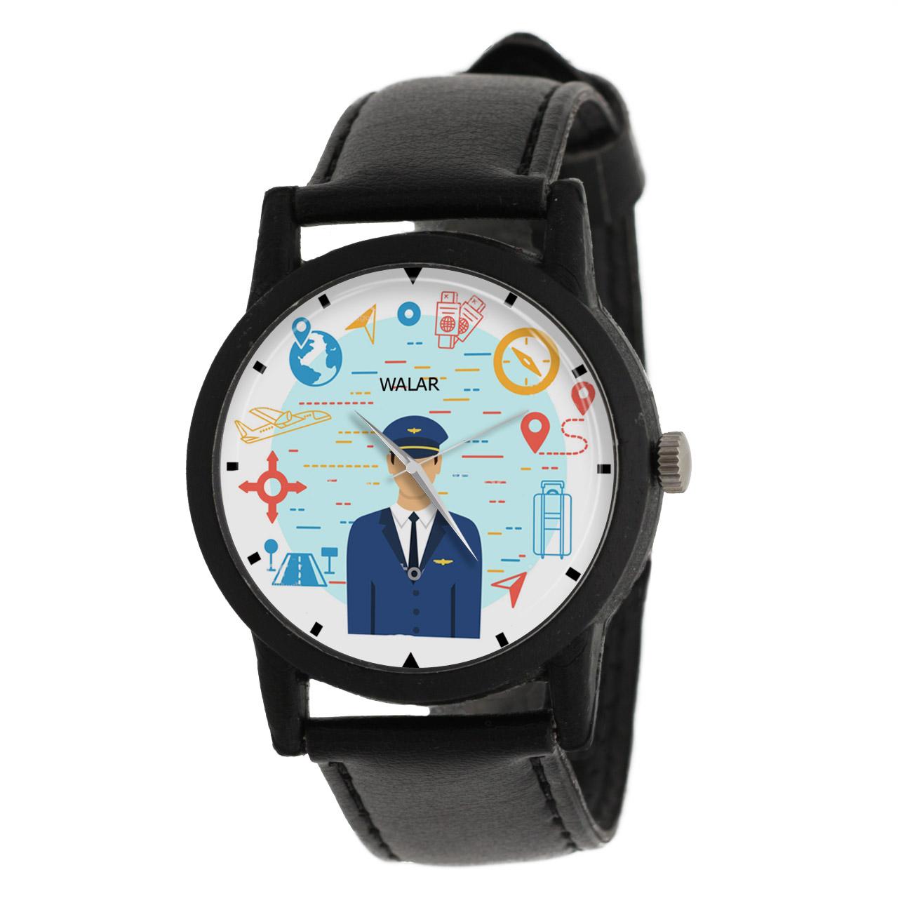 کد تخفیف                                      ساعت مچی عقربه ای مردانه والار طرح خلبان کد LF2556
