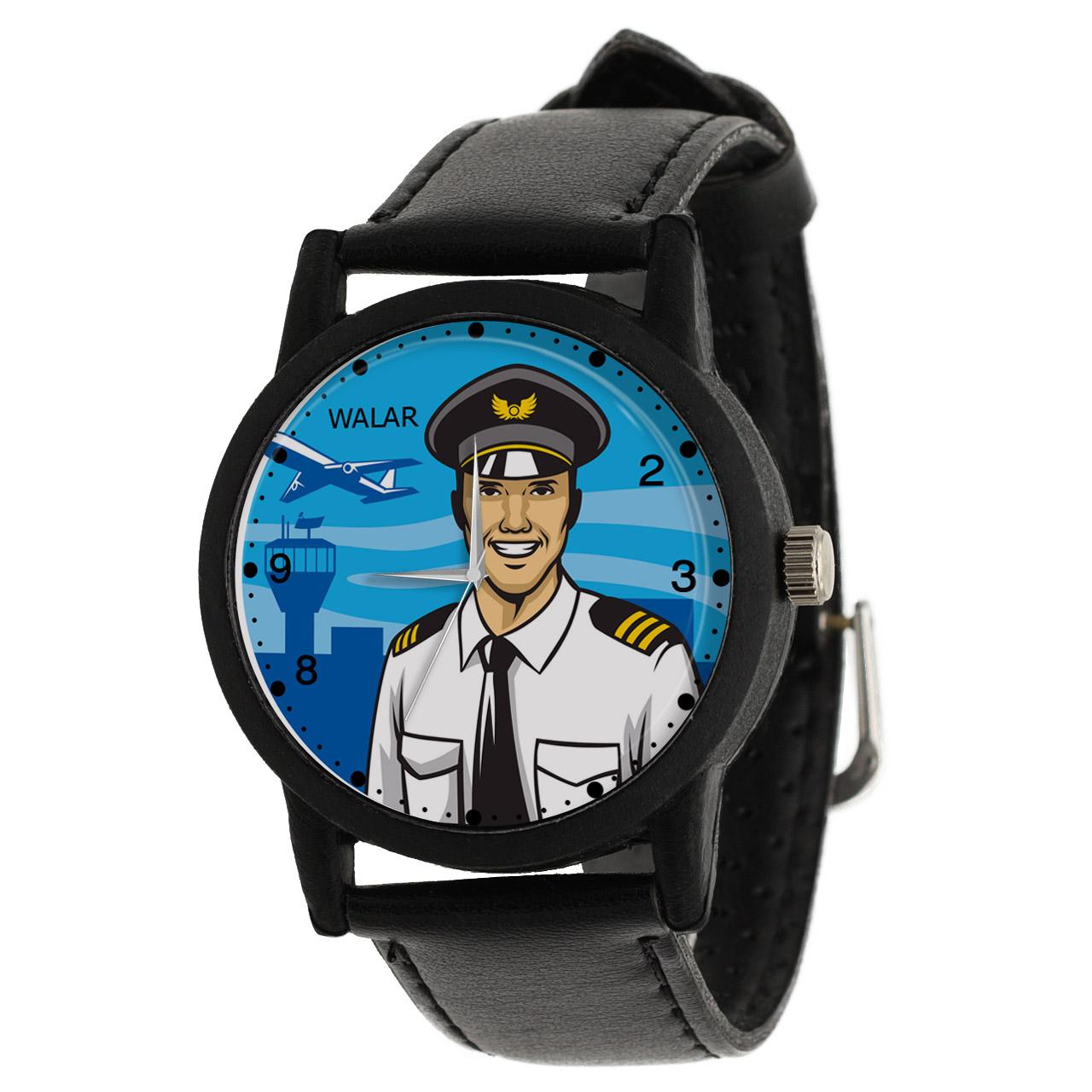 کد تخفیف                                      ساعت مچی عقربه ای مردانه والار طرح خلبان کد LF2557