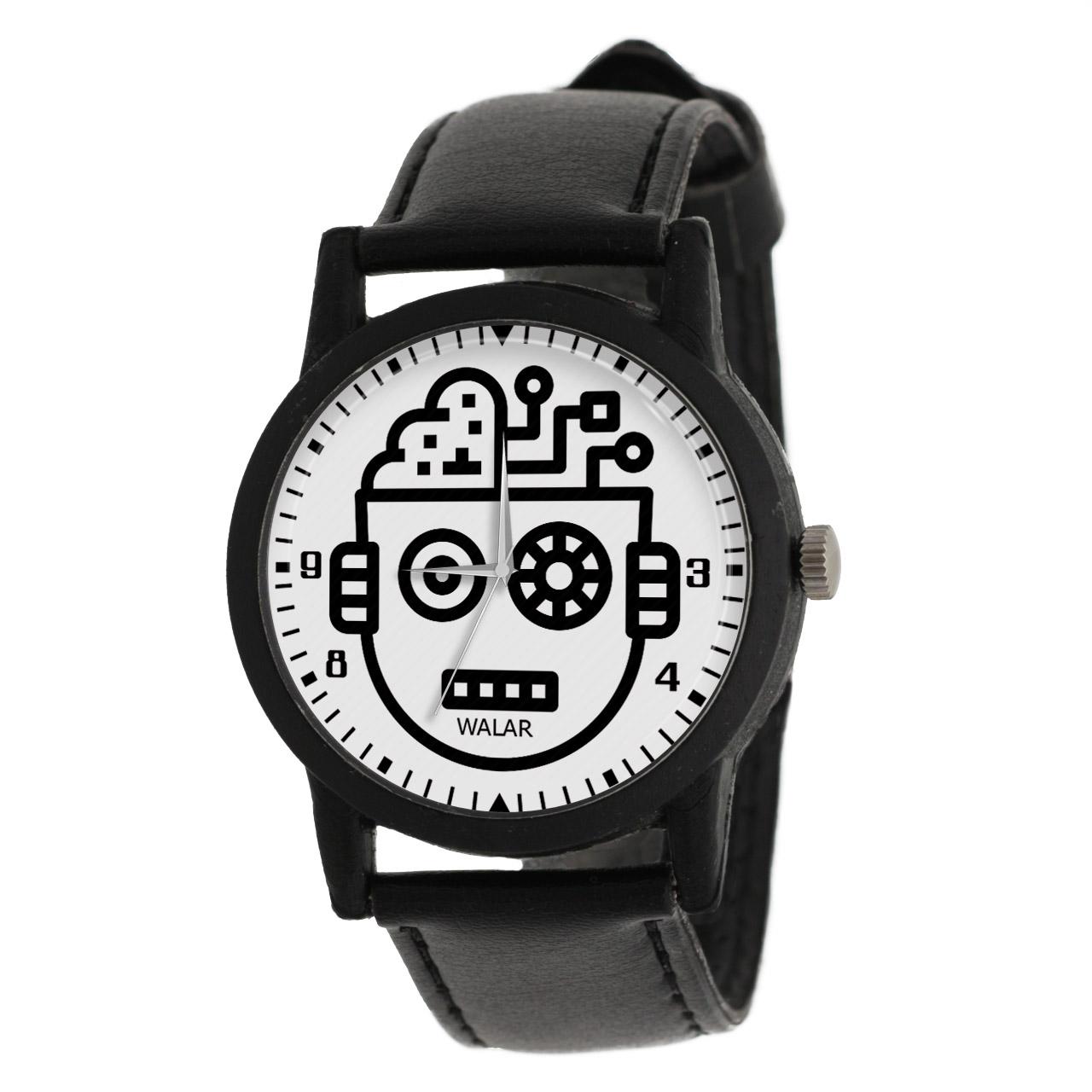 ساعت مچی عقربه ای والار طرح رباتیک کد LF2564