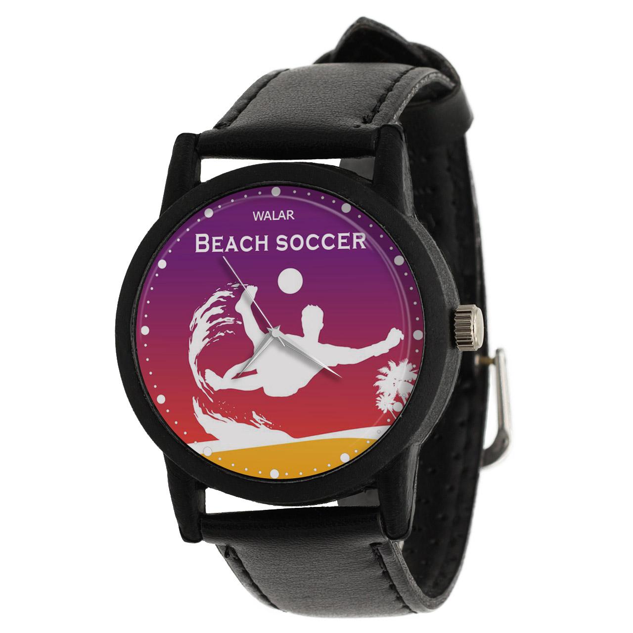 کد تخفیف                                      ساعت مچی عقربه ای مردانه والار طرح فوتبال ساحلی کد LF2565