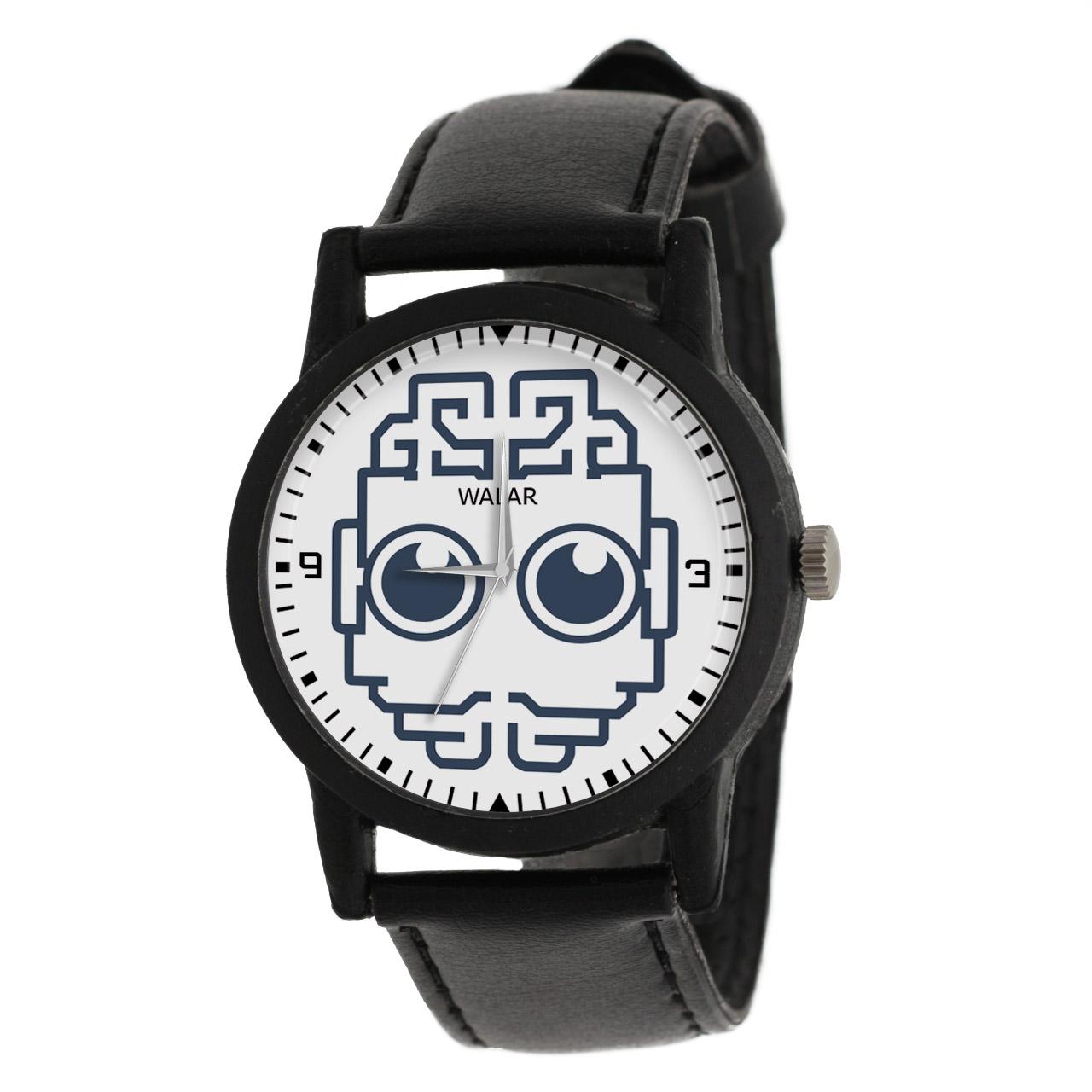 کد تخفیف                                      ساعت مچی عقربه ای والار طرح رباتیک کد LF2567