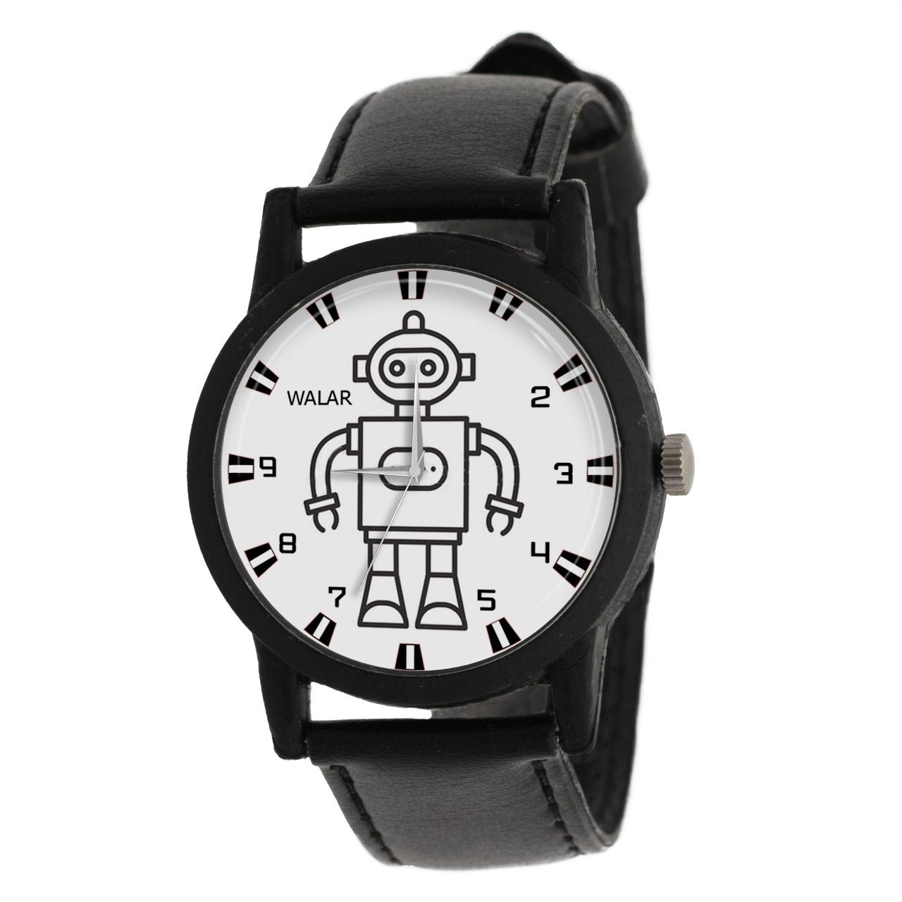 کد تخفیف                                      ساعت مچی عقربه ای والار طرح رباتیک کد LF2570