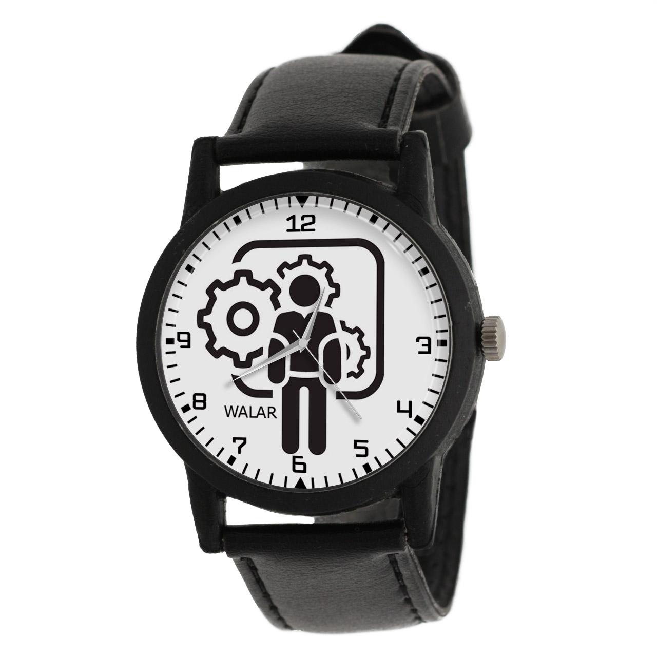 کد تخفیف                                      ساعت مچی عقربه ای والار طرح مهندسی مکانیک کد LF2585