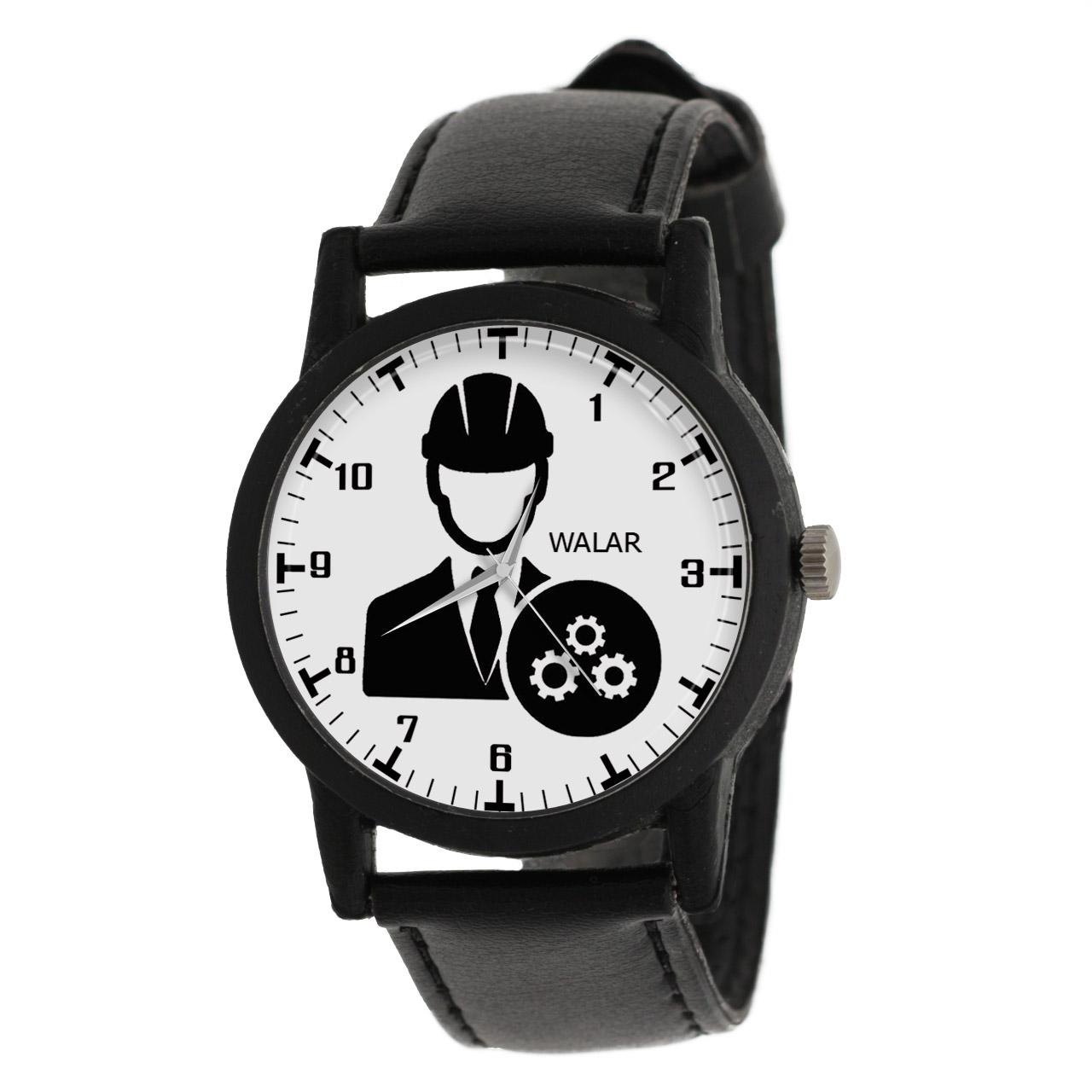 کد تخفیف                                      ساعت مچی عقربه ای والار طرح مهندسی مکانیک کد LF2586