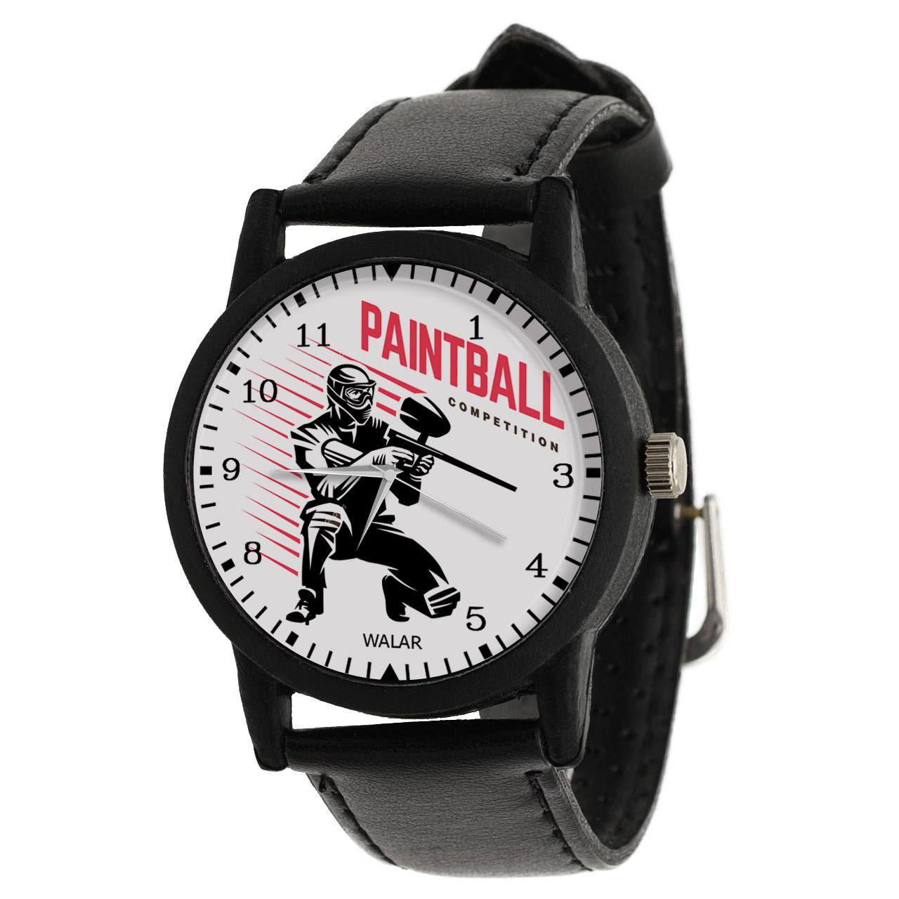 کد تخفیف                                      ساعت مچی عقربه ای مردانه والار طرح پینت بال کد LF2587