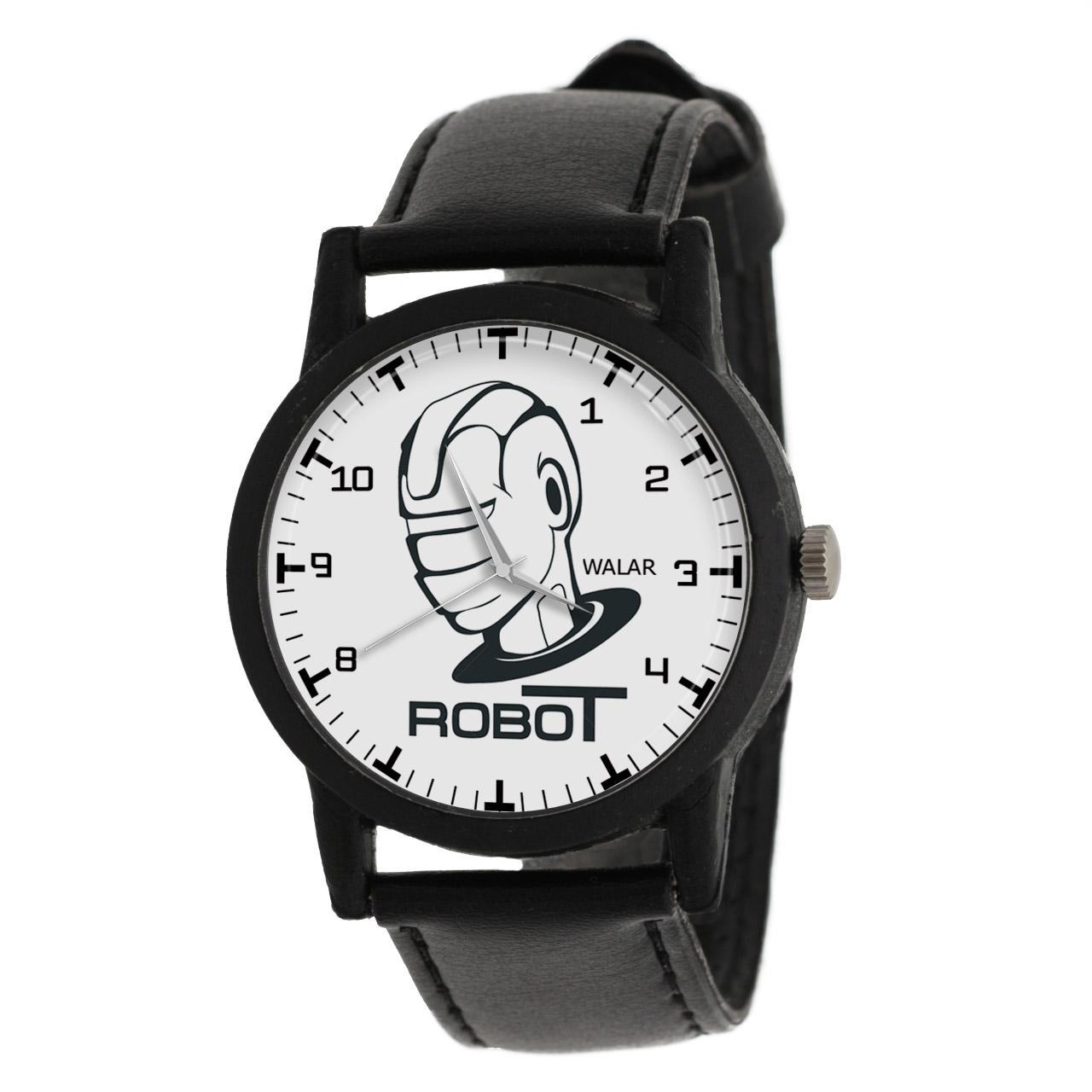 کد تخفیف                                      ساعت مچی عقربه ای والار طرح ربات کد LF2592