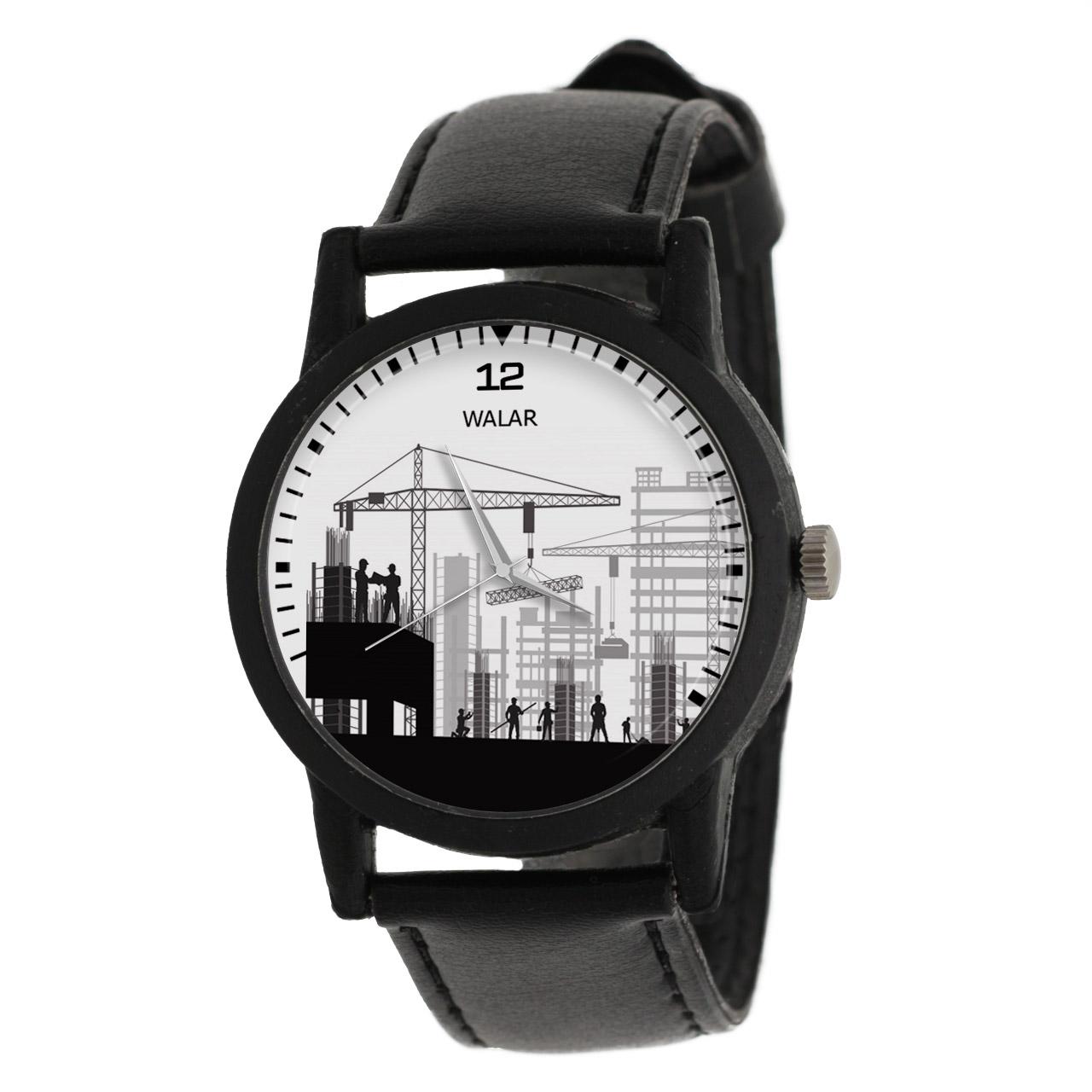 کد تخفیف                                      ساعت مچی عقربه ای والار طرح مهندسی عمران کد LF2595