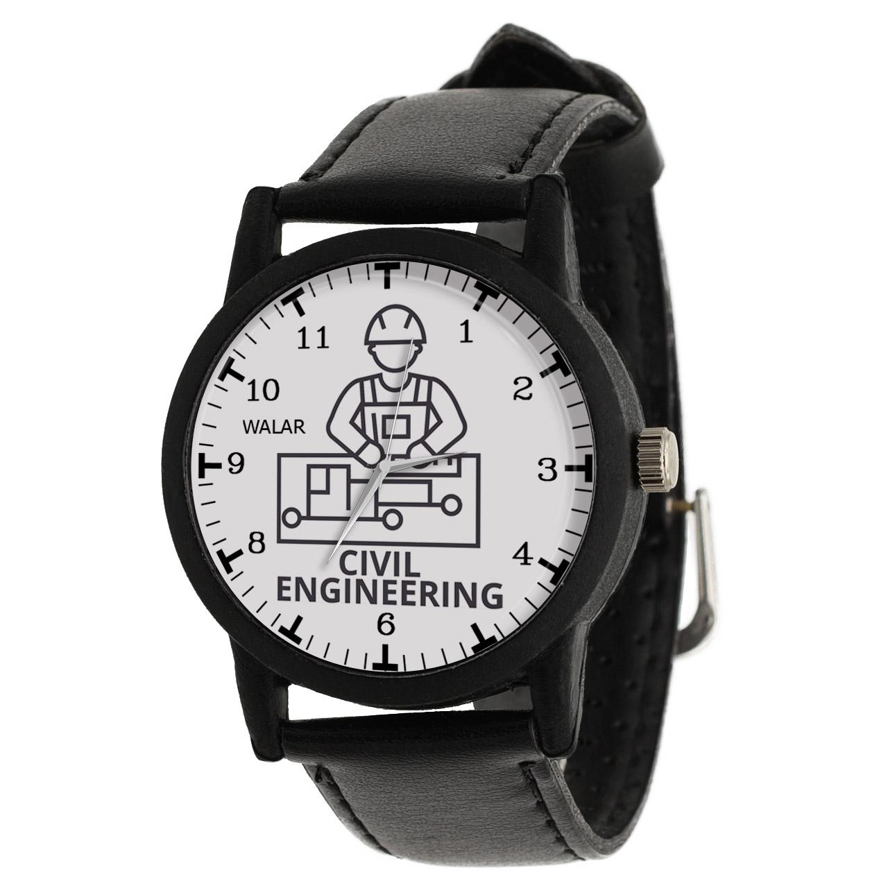 کد تخفیف                                      ساعت مچی عقربه ای والار طرح مهندسی عمران کد LF2596