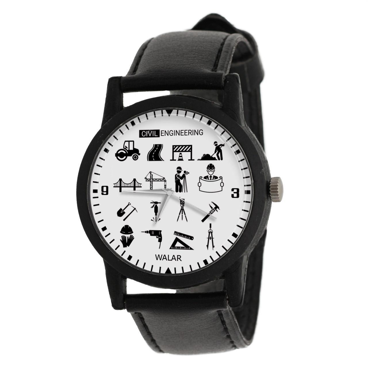 کد تخفیف                                      ساعت مچی عقربه ای والار طرح مهندسی عمران کد LF2600