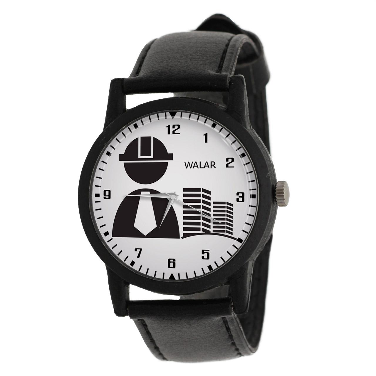 کد تخفیف                                      ساعت مچی عقربه ای مردانه والار طرح مهندسی عمران کد LF2601