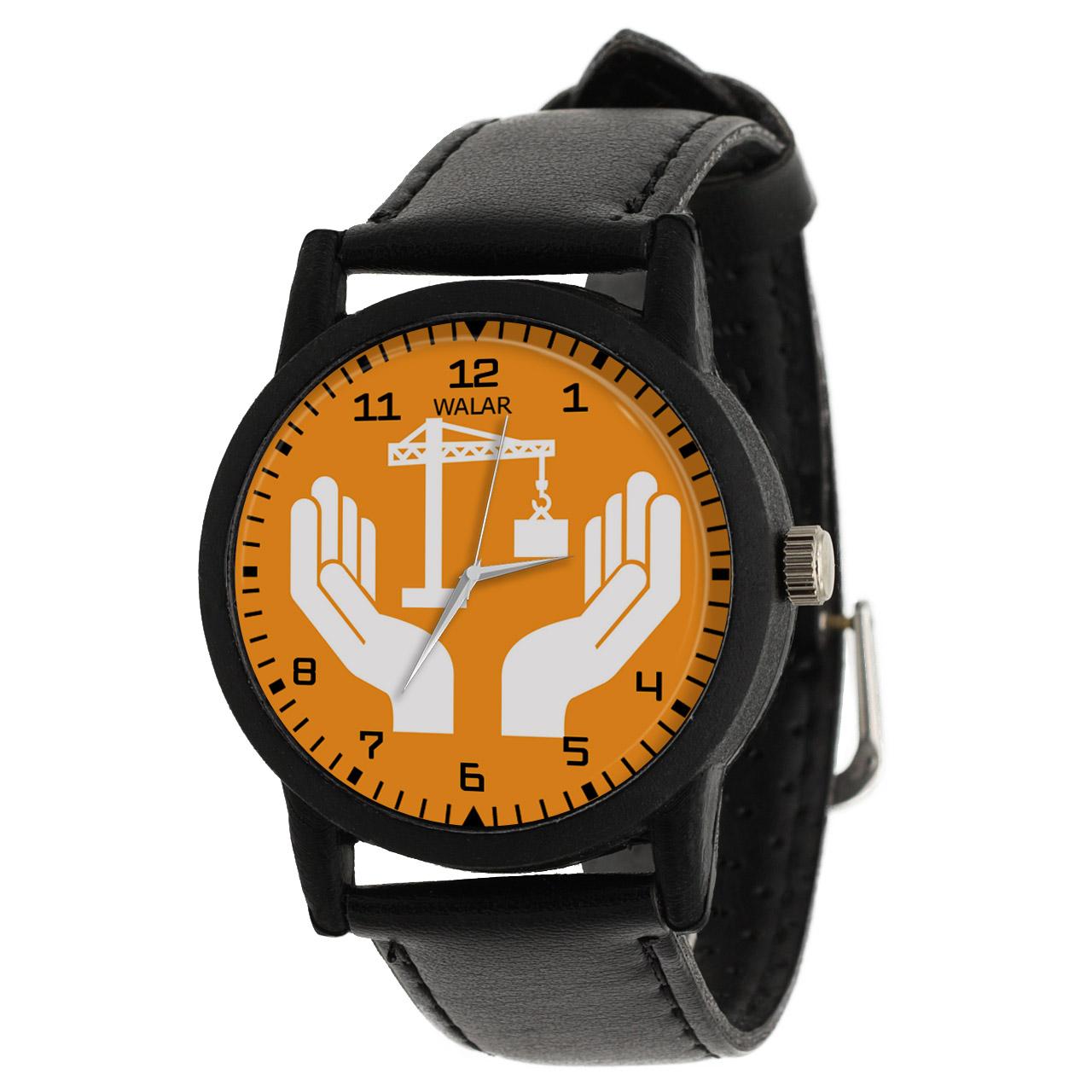 کد تخفیف                                      ساعت مچی عقربه ای والار طرح مهندسی عمران کد LF2602