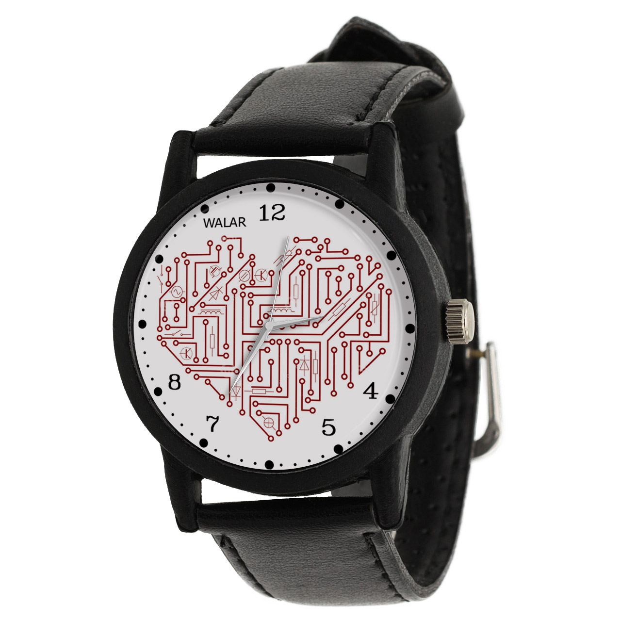 کد تخفیف                                      ساعت مچی عقربه ای والار طرح مدار الکتریکی کد LF2603