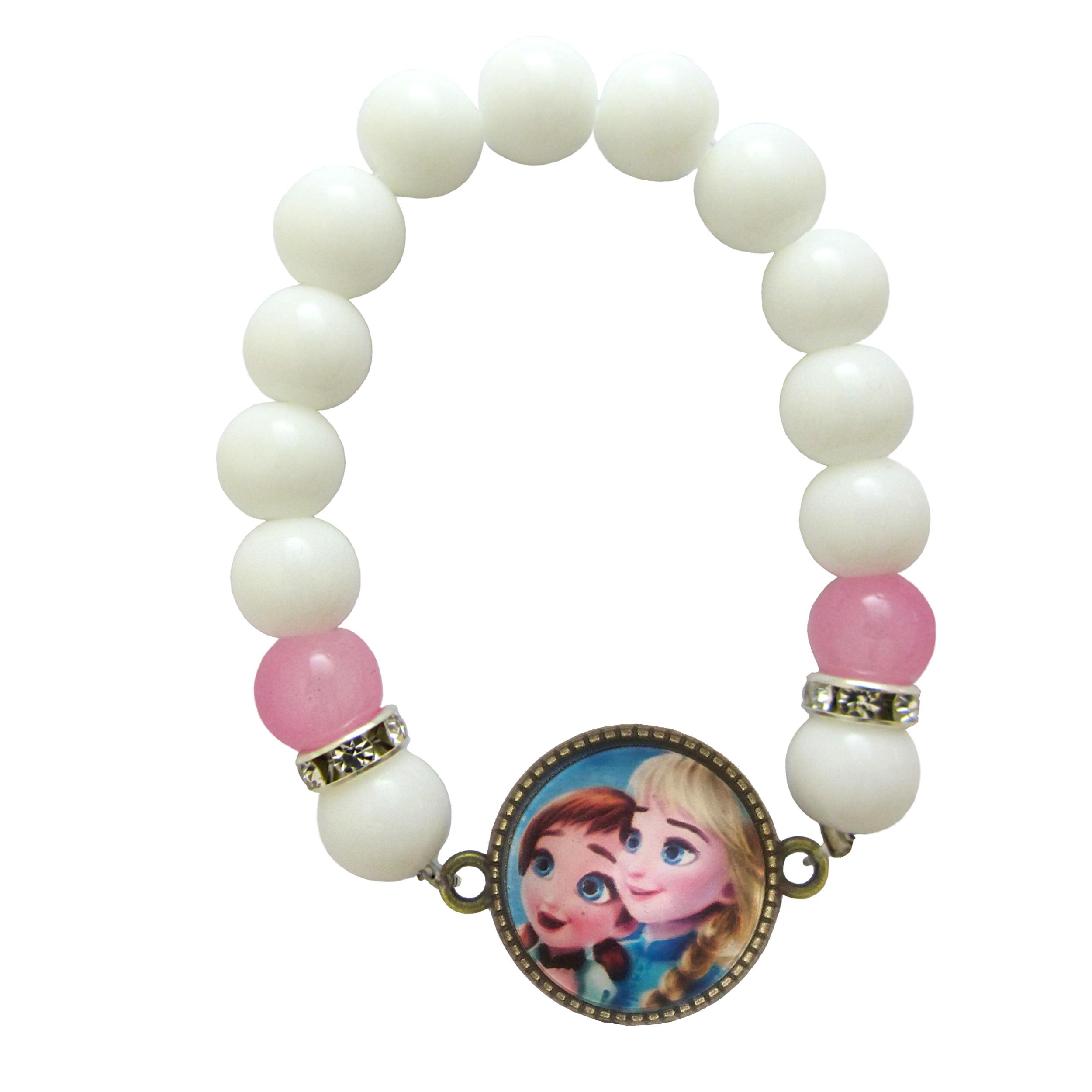 دستبند دخترانه طرح السا و آنا کد 023