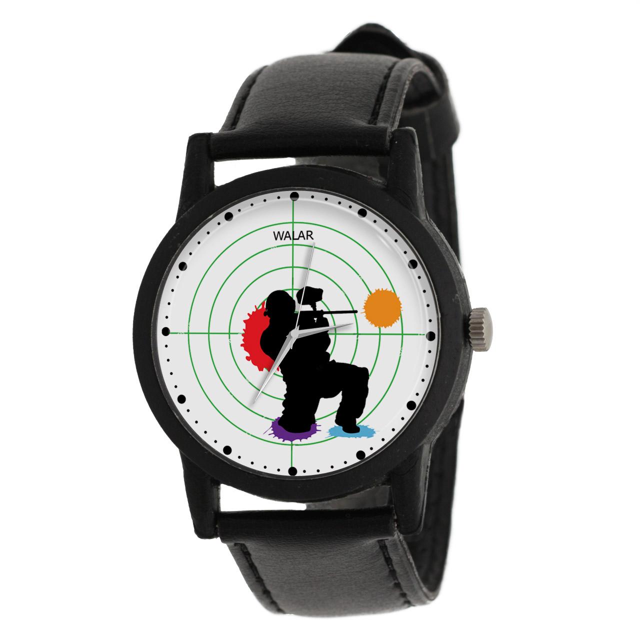 کد تخفیف                                      ساعت مچی عقربه ای والار طرح پینت بال کد LF2609