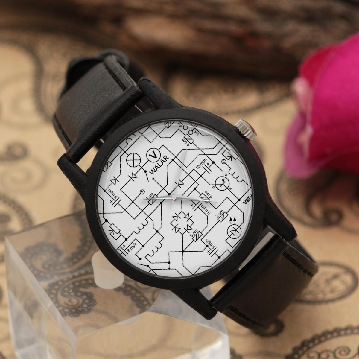 کد تخفیف                                      ساعت مچی عقربه ای والار طرح مدار الکتریکی کد LF2610