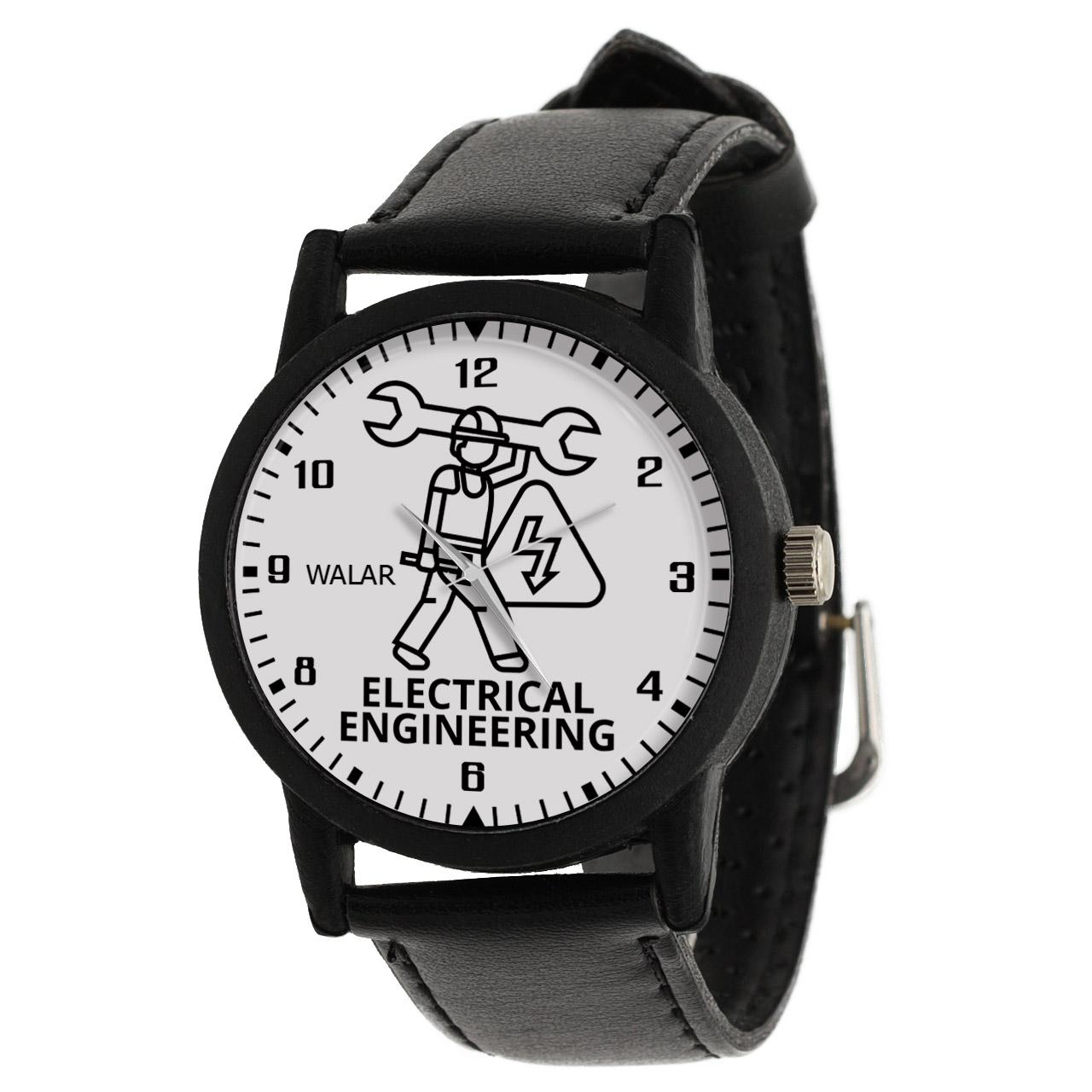 کد تخفیف                                      ساعت مچی عقربه ای والار طرح مهندسی برق کد LF2614