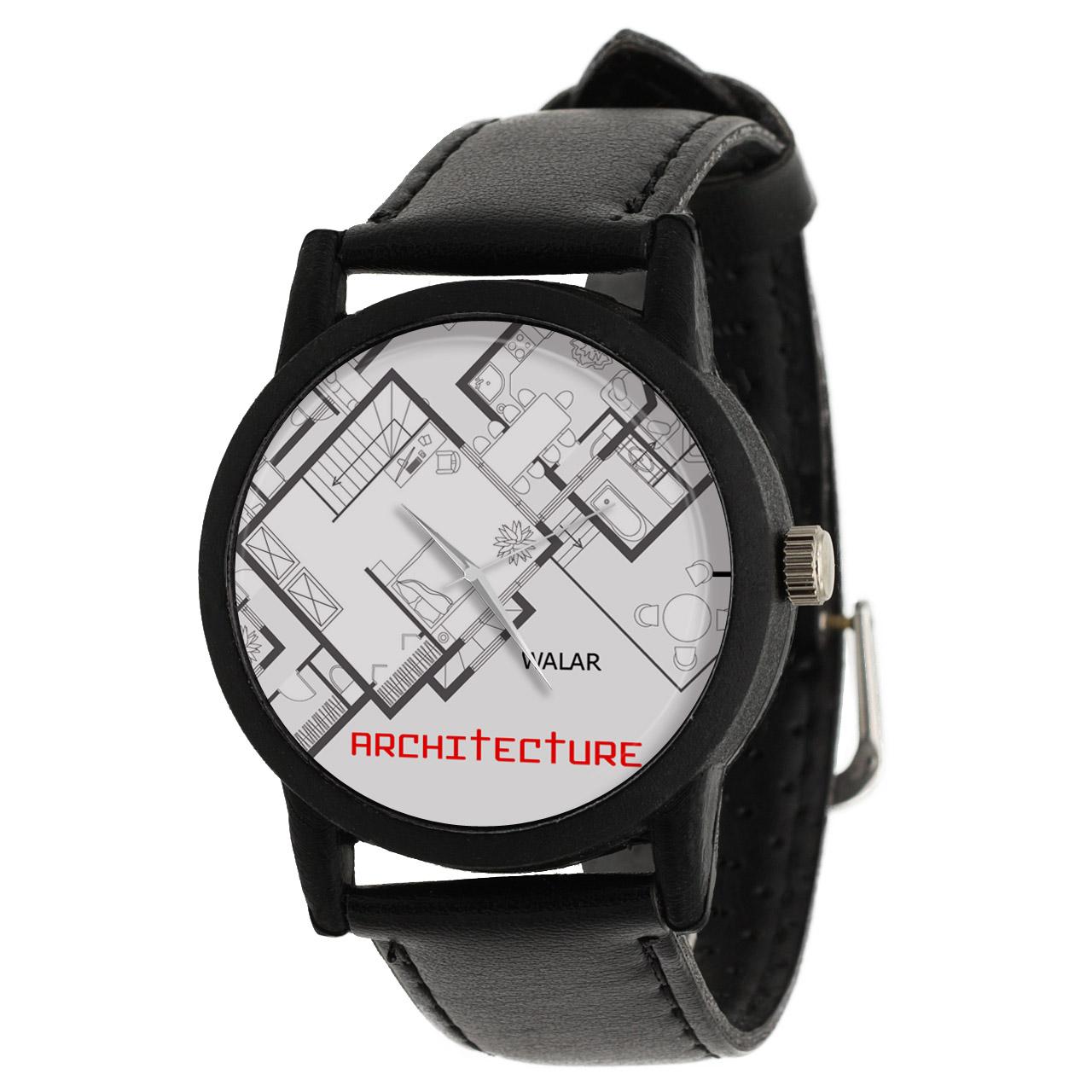 کد تخفیف                                      ساعت مچی عقربه ای والار طرح معماری کد LF2618