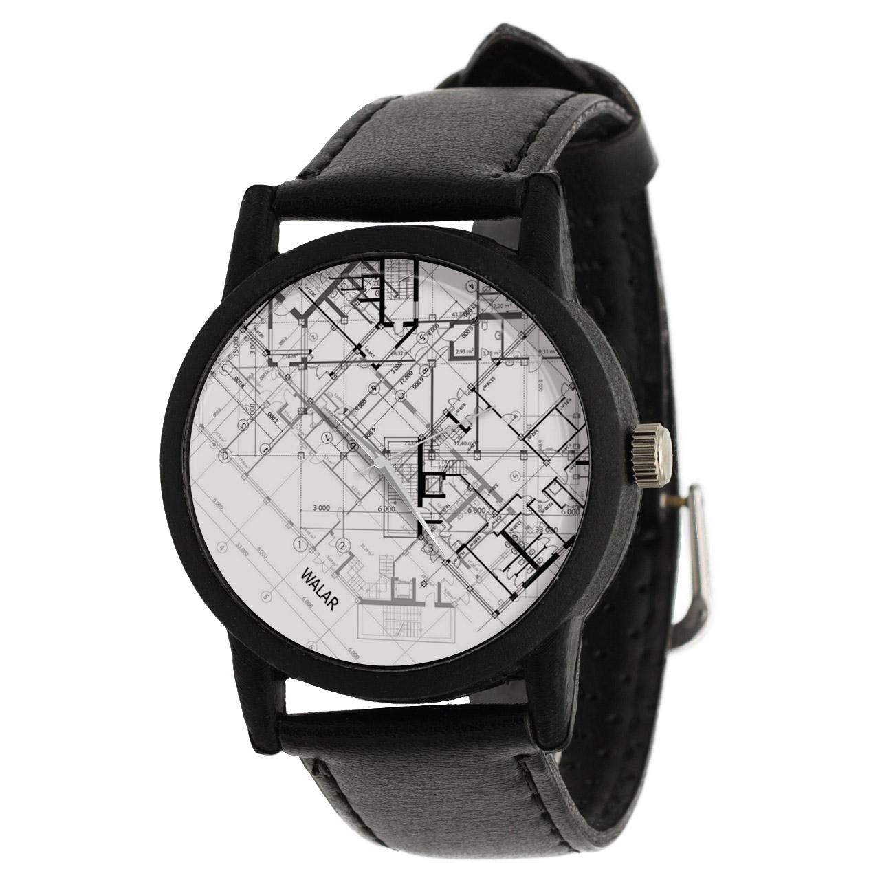 کد تخفیف                                      ساعت مچی عقربه ای والار طرح معماری کد LF2619