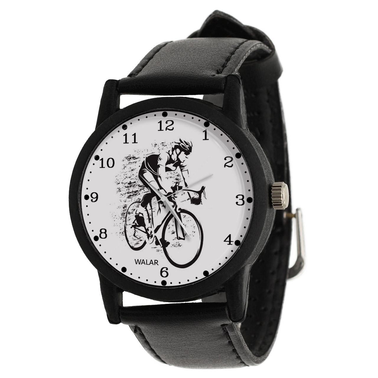 کد تخفیف                                      ساعت مچی عقربه ای مردانه والار طرح دوچرخه سواری کد LF2621