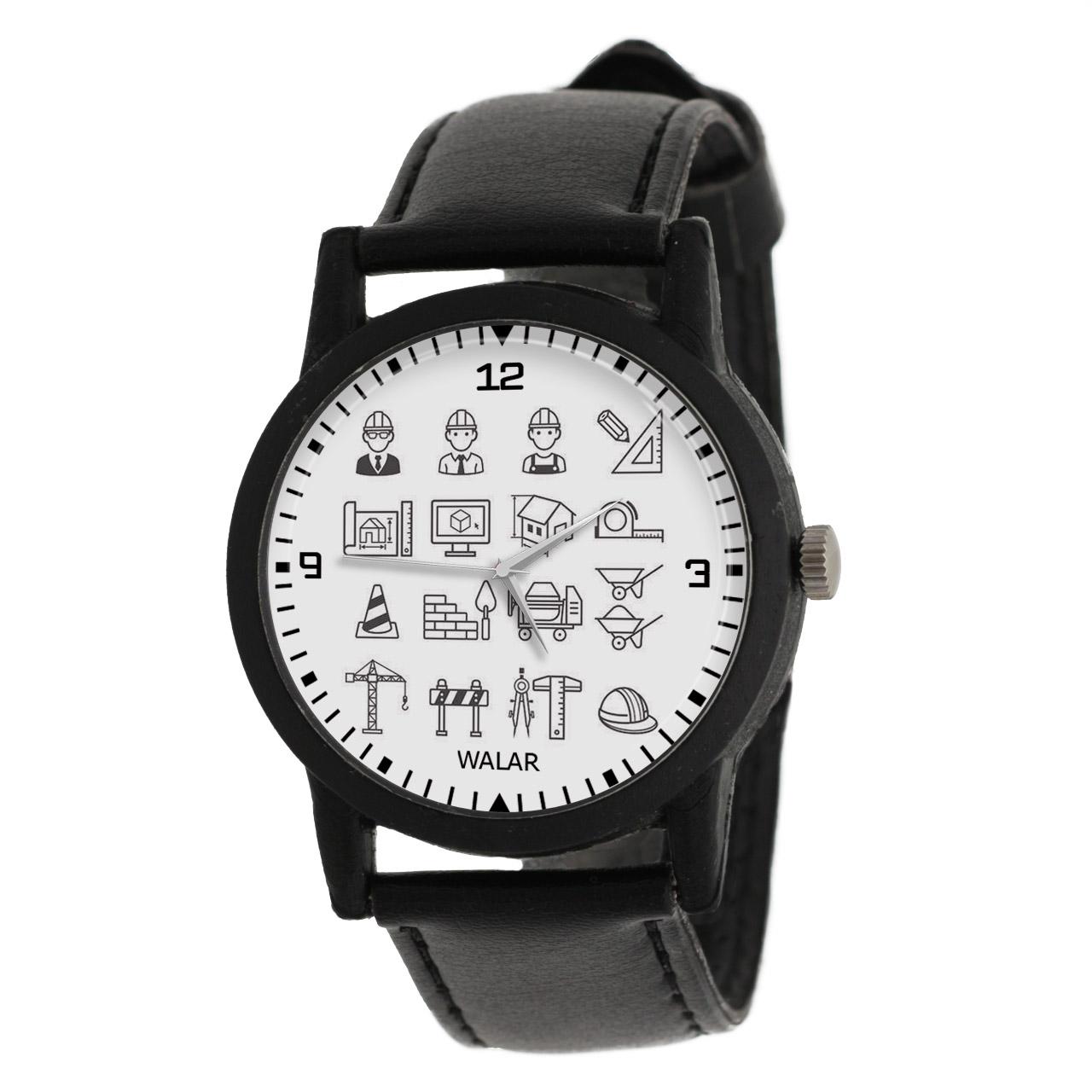 کد تخفیف                                      ساعت مچی عقربه ای والار طرح معماری کد LF2622