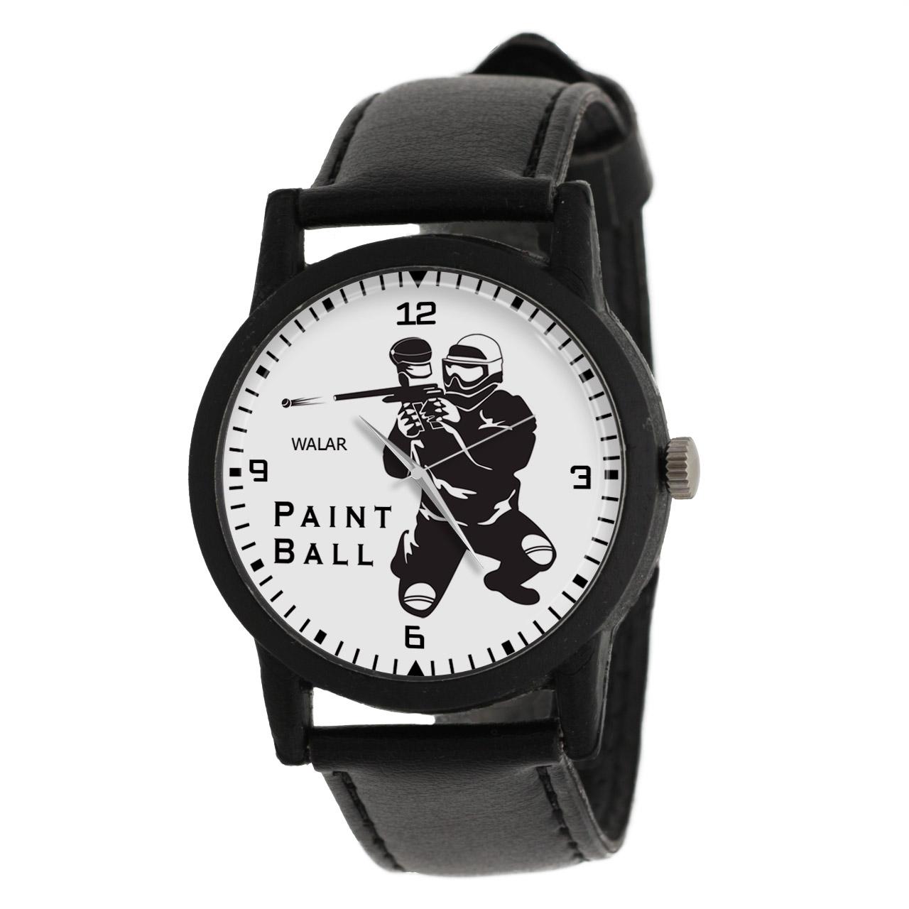 قیمت                      ساعت مچی عقربه ای مردانه والار طرح پینت بال کد LF2632