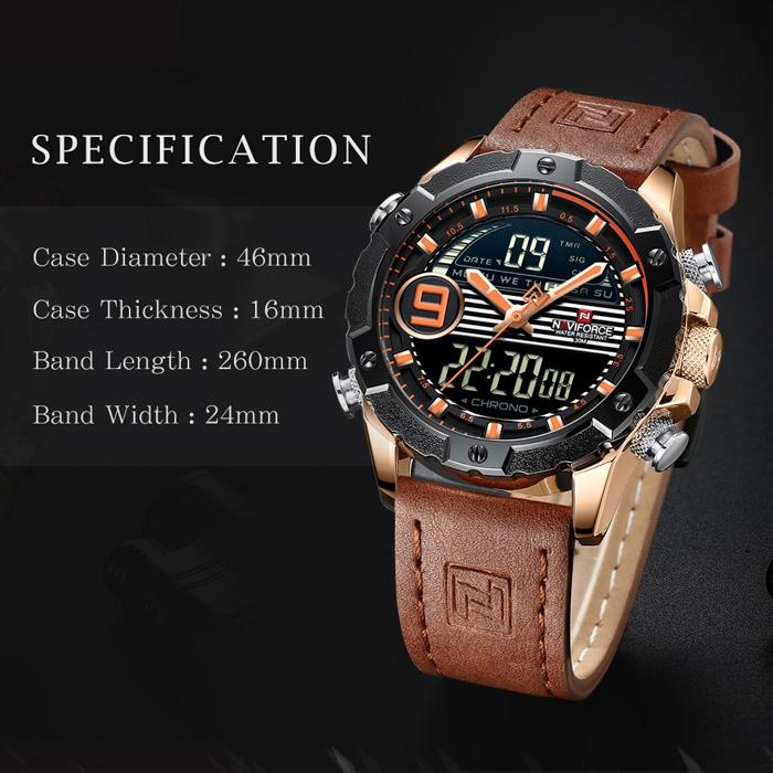 ساعت مچی دیجیتال مردانه نیوی فورس مدل NF9146M - GHA-NA