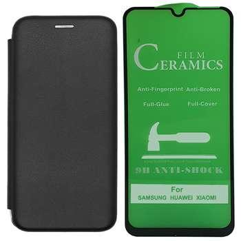 کیف کلاسوری اینفینیتی مدل INFCLR مناسب برای گوشی موبایل شیائومی Redmi Note 8 به همراه محافظ صفحه نمایش