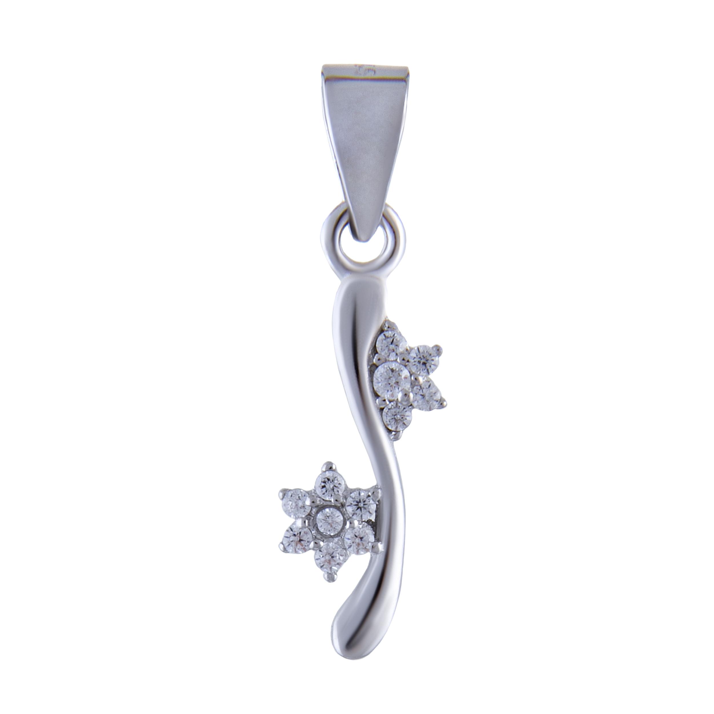 آویز گردنبند نقره زنانه بازرگانی میلادی کد PKR_028