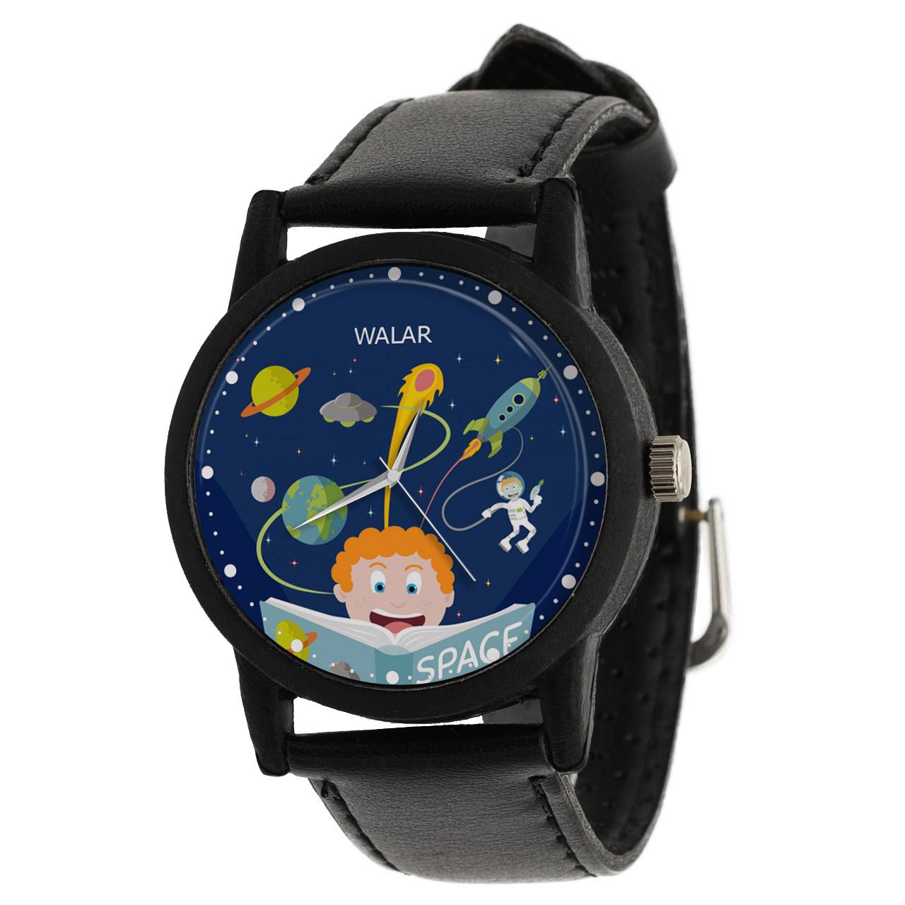 کد تخفیف                                      ساعت مچی عقربه ای والار طرح فضانوردی کد LF2642