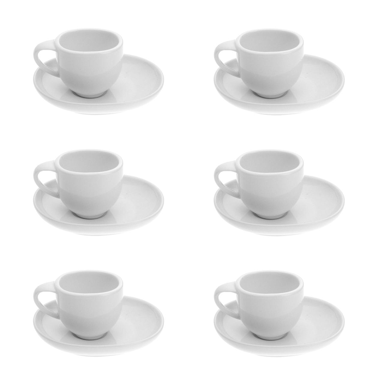 سرویس قهوه خوری 12 پارچه وان کافی مدل بارکا وایت کد JX002-70-W