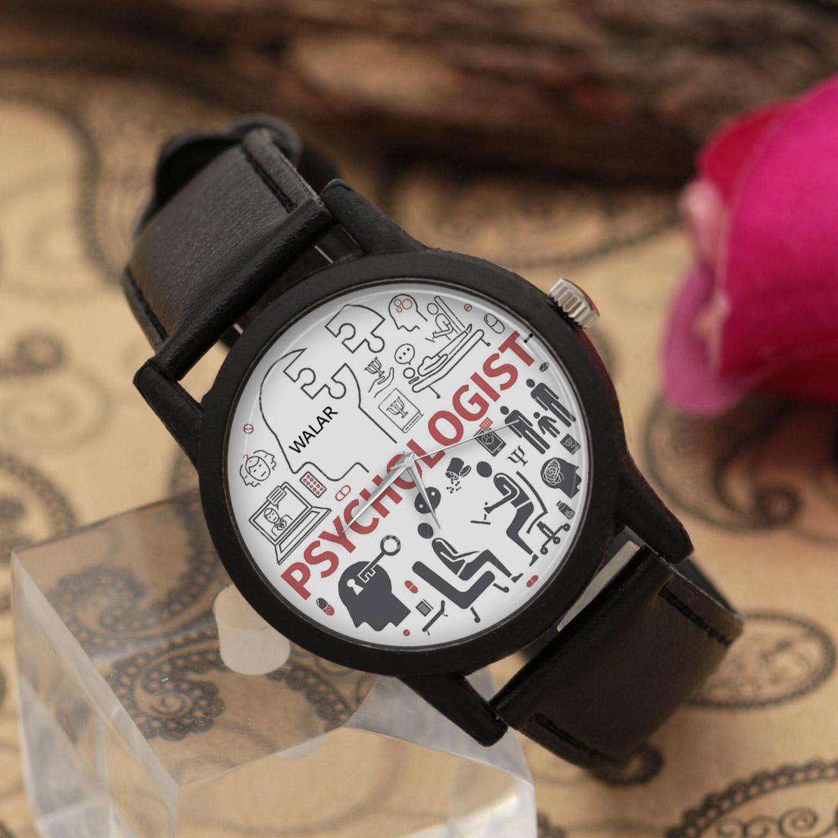 کد تخفیف                                      ساعت مچی عقربه ای والار طرح روانشناس کد LF2655