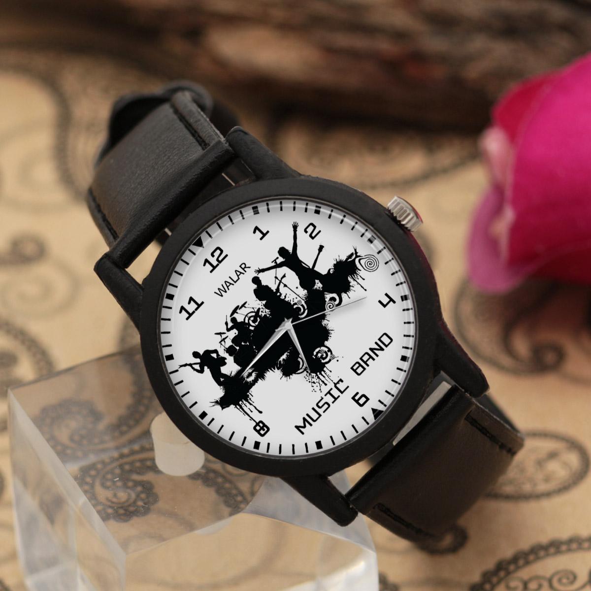 کد تخفیف                                      ساعت مچی عقربه ای والار طرح موسیقی کد LF2659