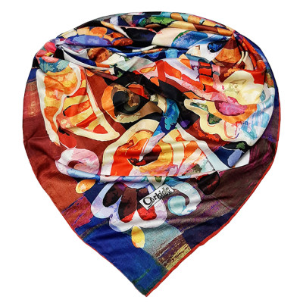 تصویر روسری زنانه ارکیده کد 166-25